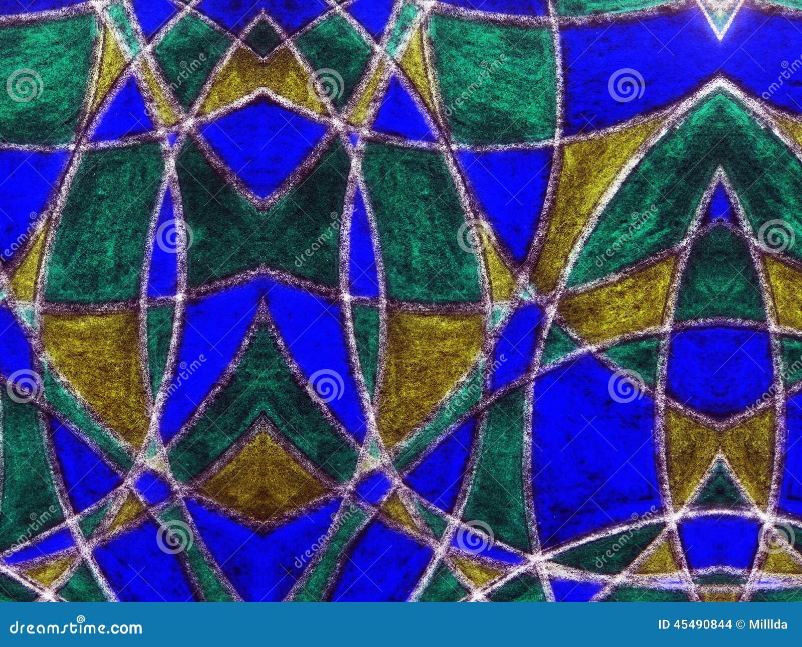 被绘的抽象五颜六色