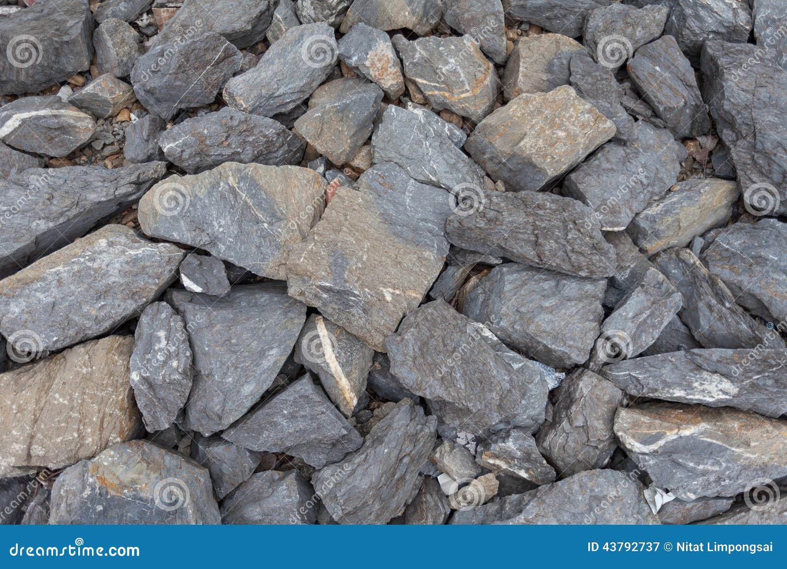 被击碎的石灰石