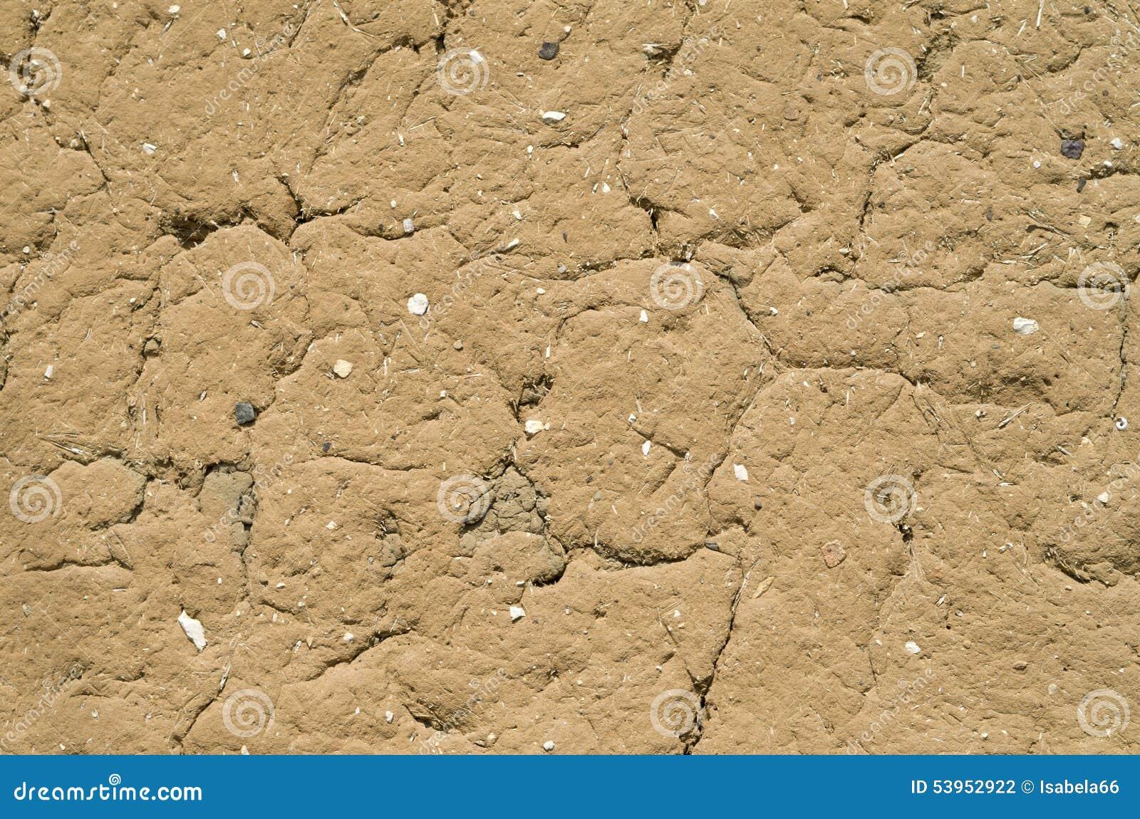 破裂的泥膏药墙壁特写镜头,