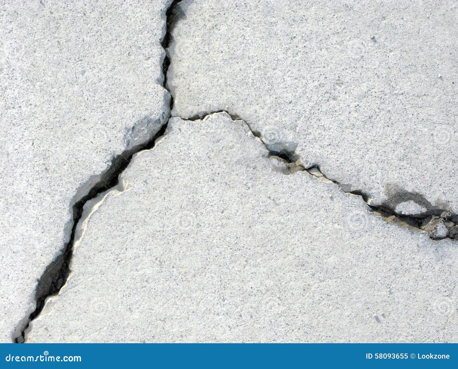 崩裂的混凝土
