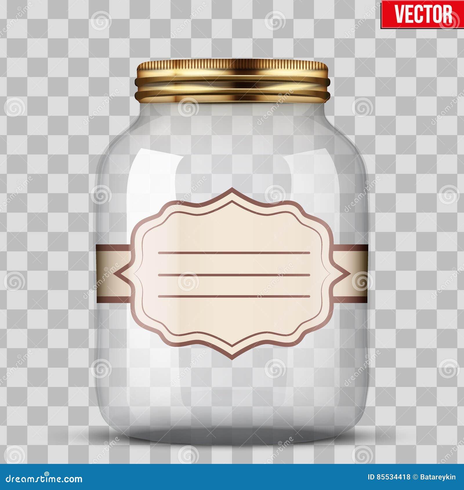 装于罐中的玻璃瓶子与标签