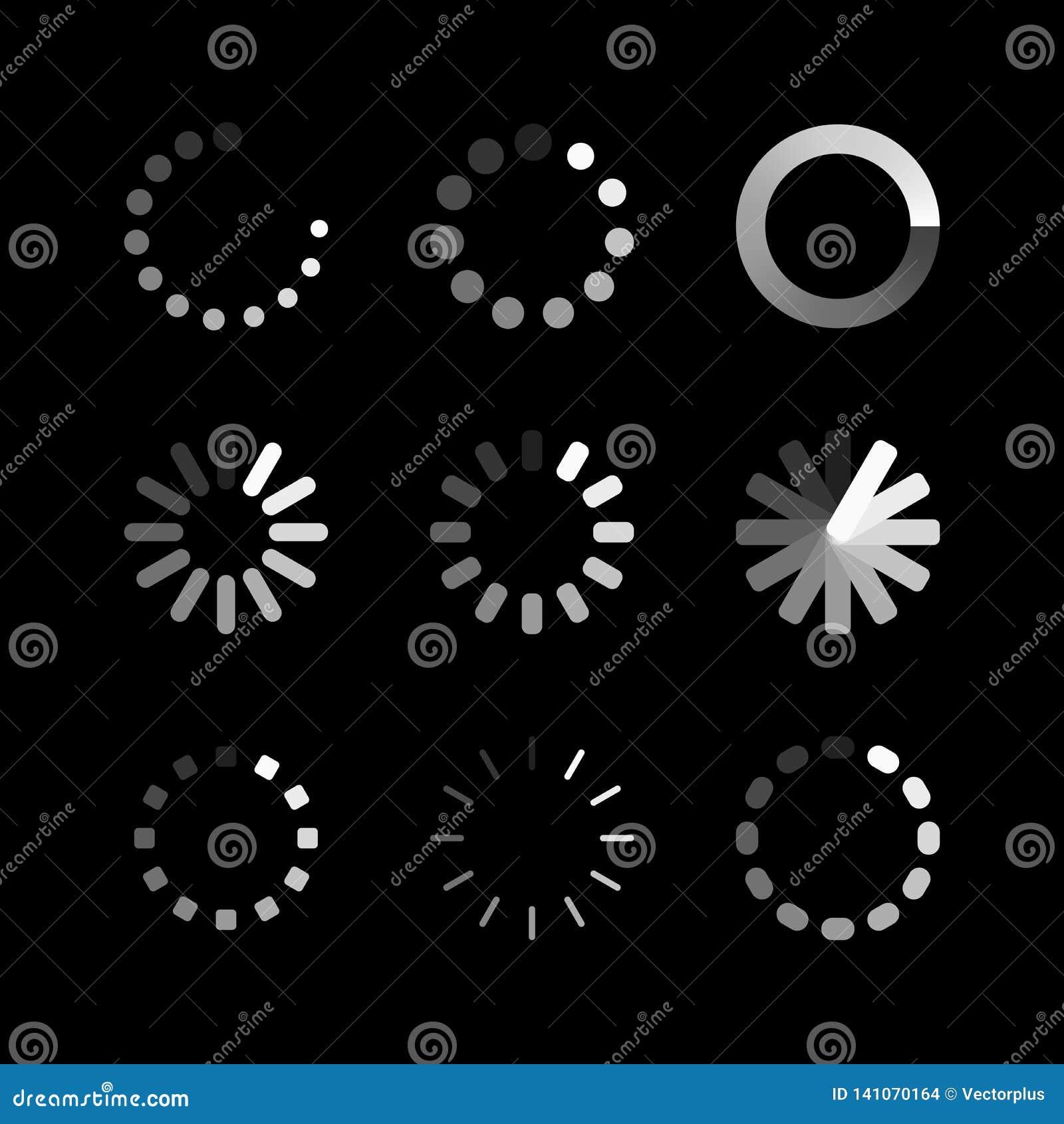 装货象 圈子网站缓冲装载者或预紧器 传染媒介下载或加载状态象集合 向量