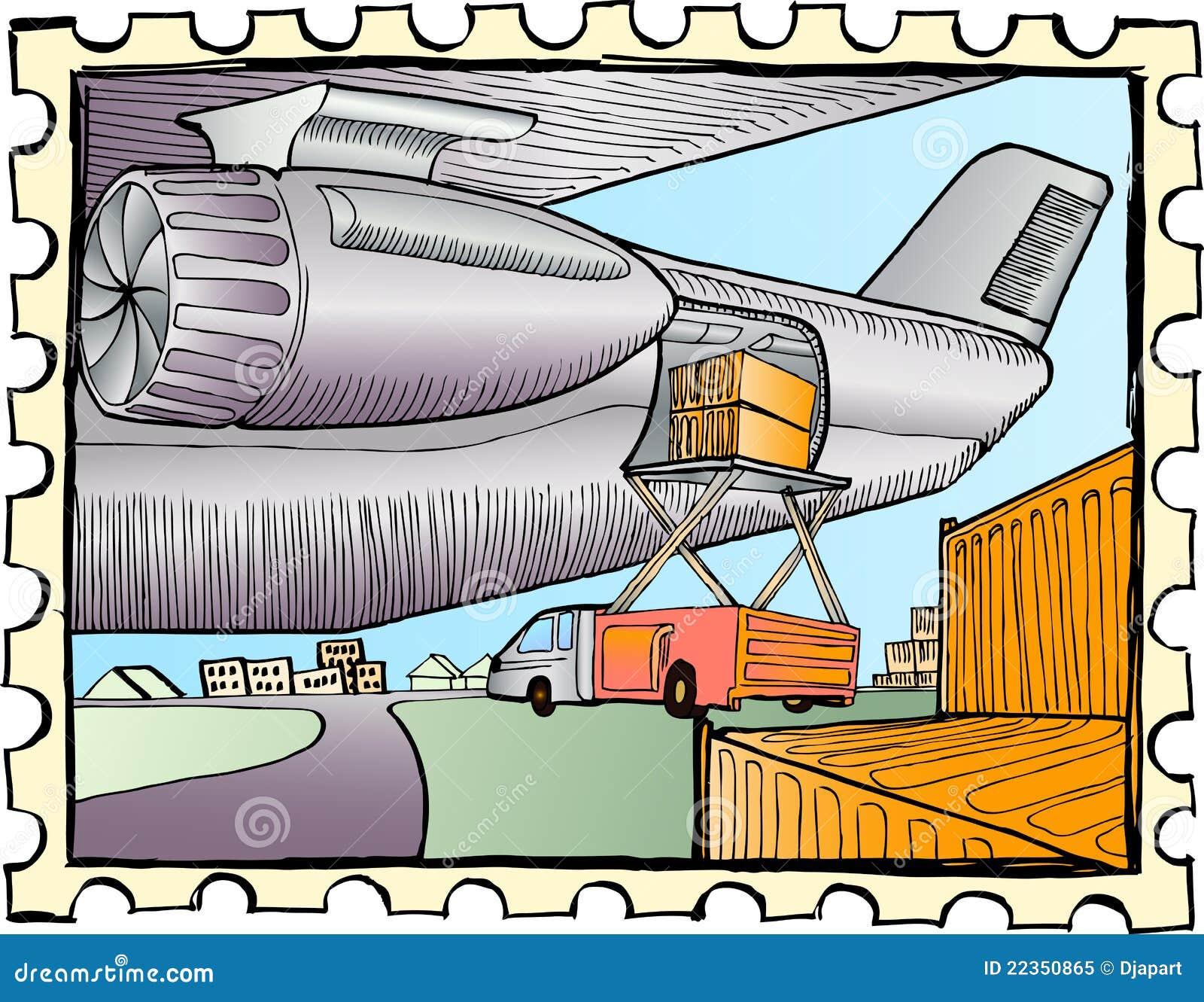 装载的航空器货物