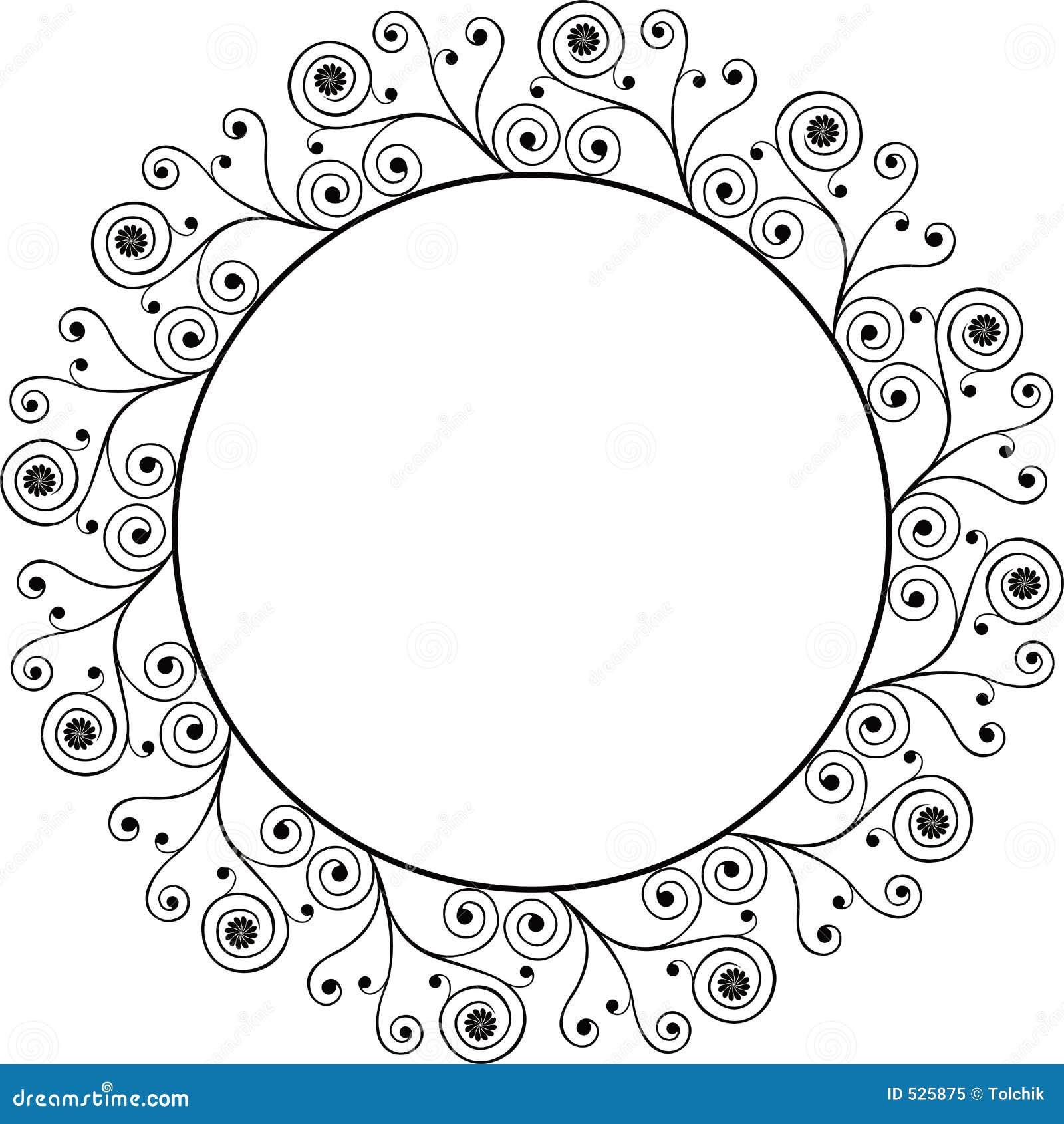 Download 装饰框架向量 向量例证. 插画 包括有 反气旋, 例证, 花卉, 有机, 框架, 金银细丝工, 减速火箭, 螺旋 - 525875
