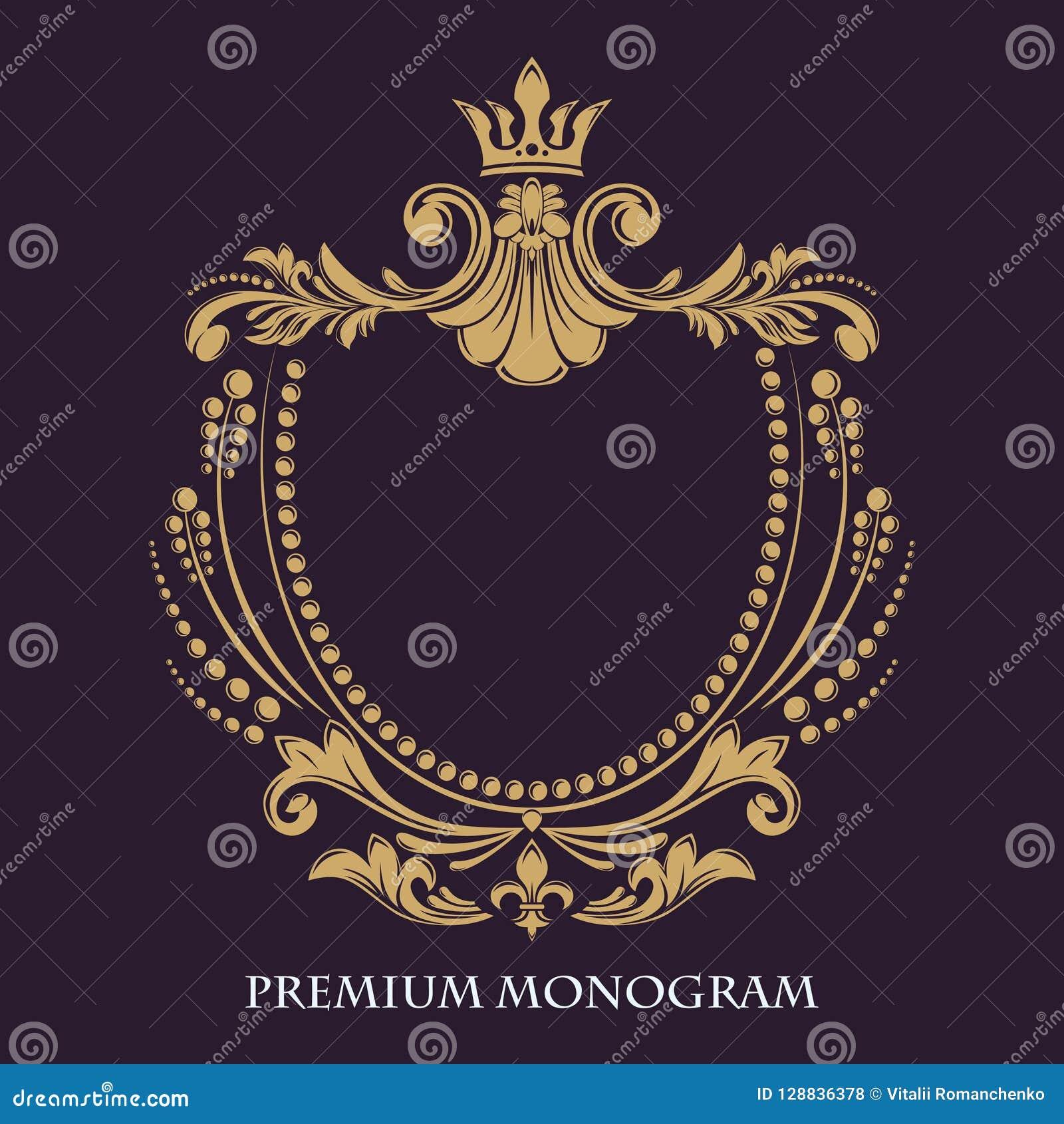 装饰花卉模式 金优美的框架 专属书法设计元素
