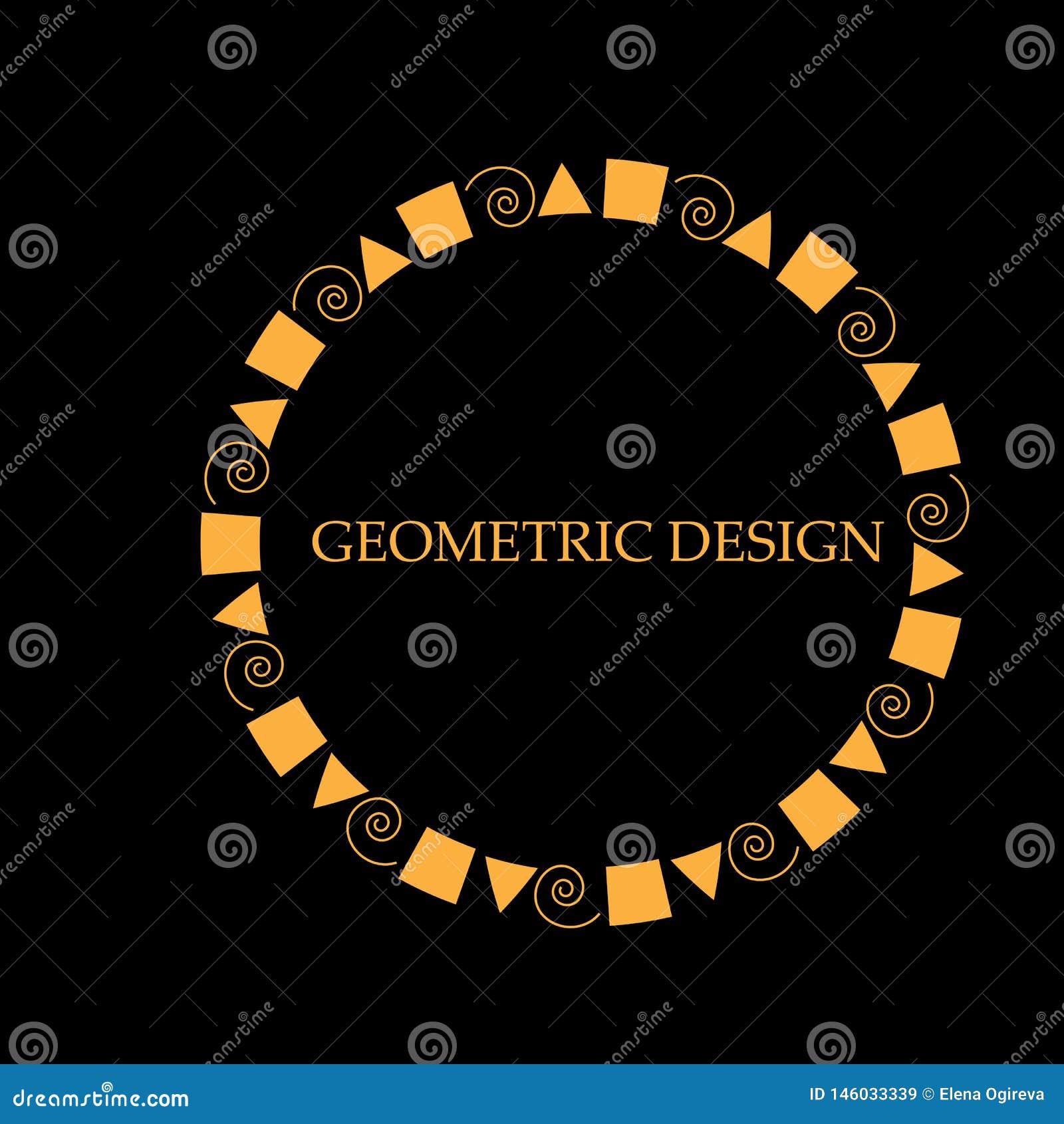 装饰设计模板的线艺术框架 典雅的传染媒介元素东部样式,文本的地方