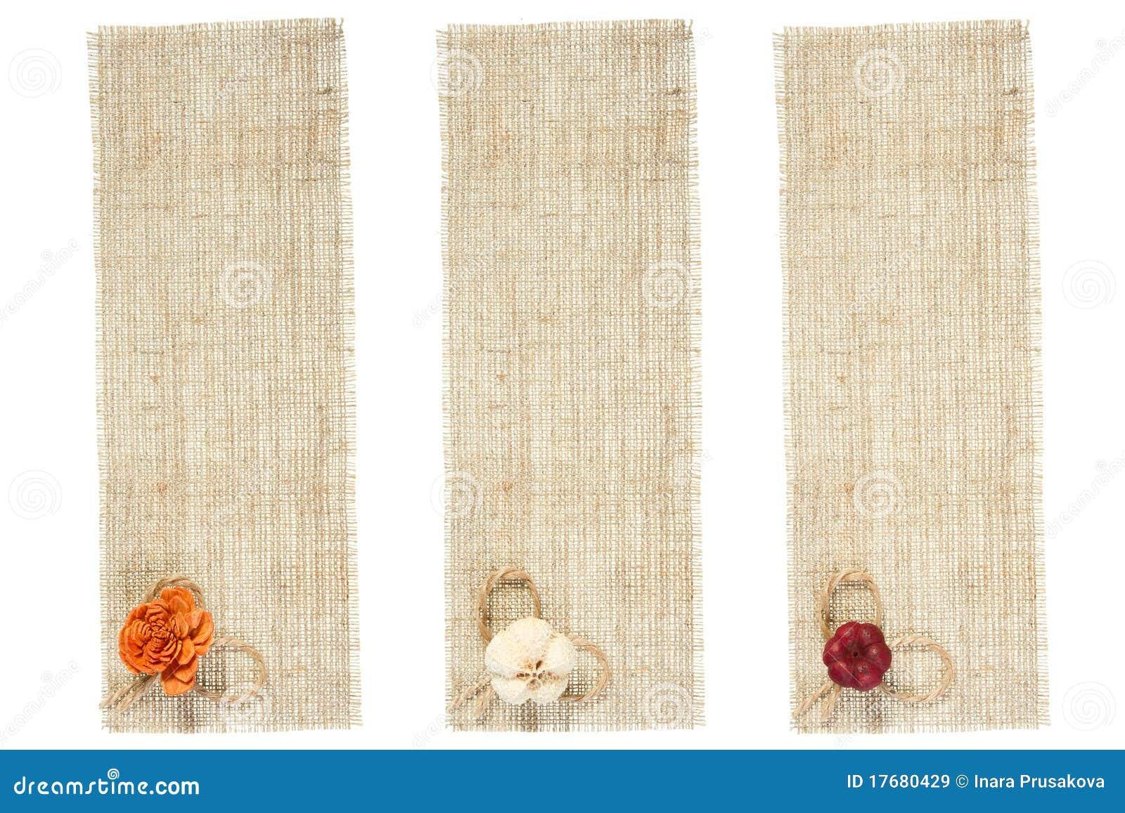 装饰麻袋布集合标签