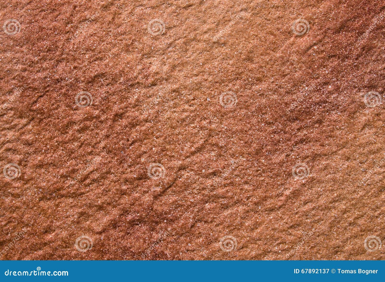 褐色红色石结构