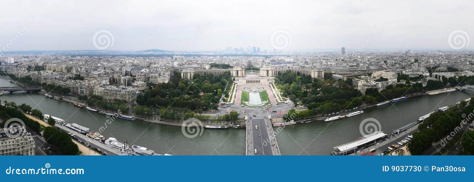 西方埃菲尔北部全景巴黎的塔