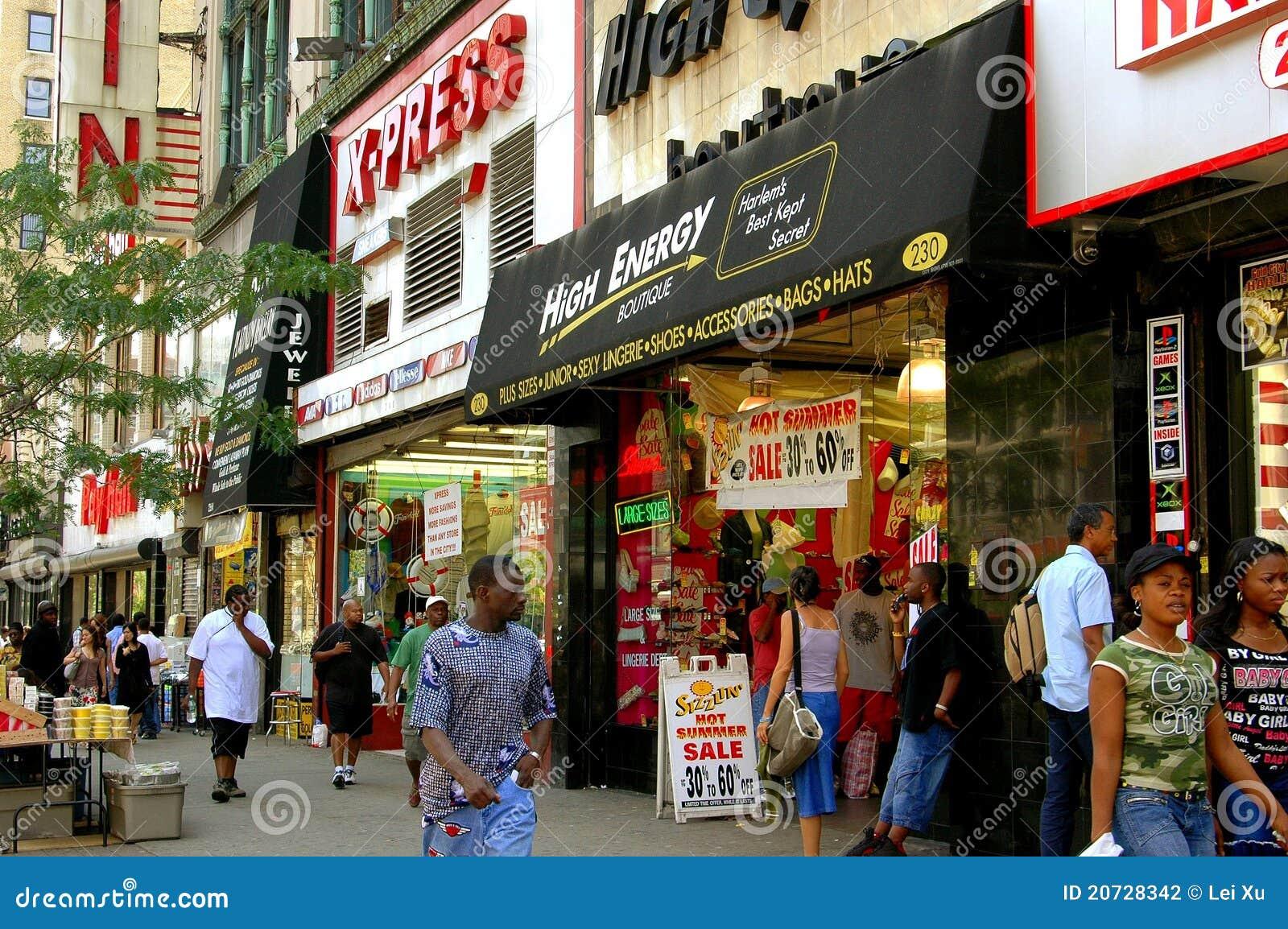 西方125th哈林nyc的街道