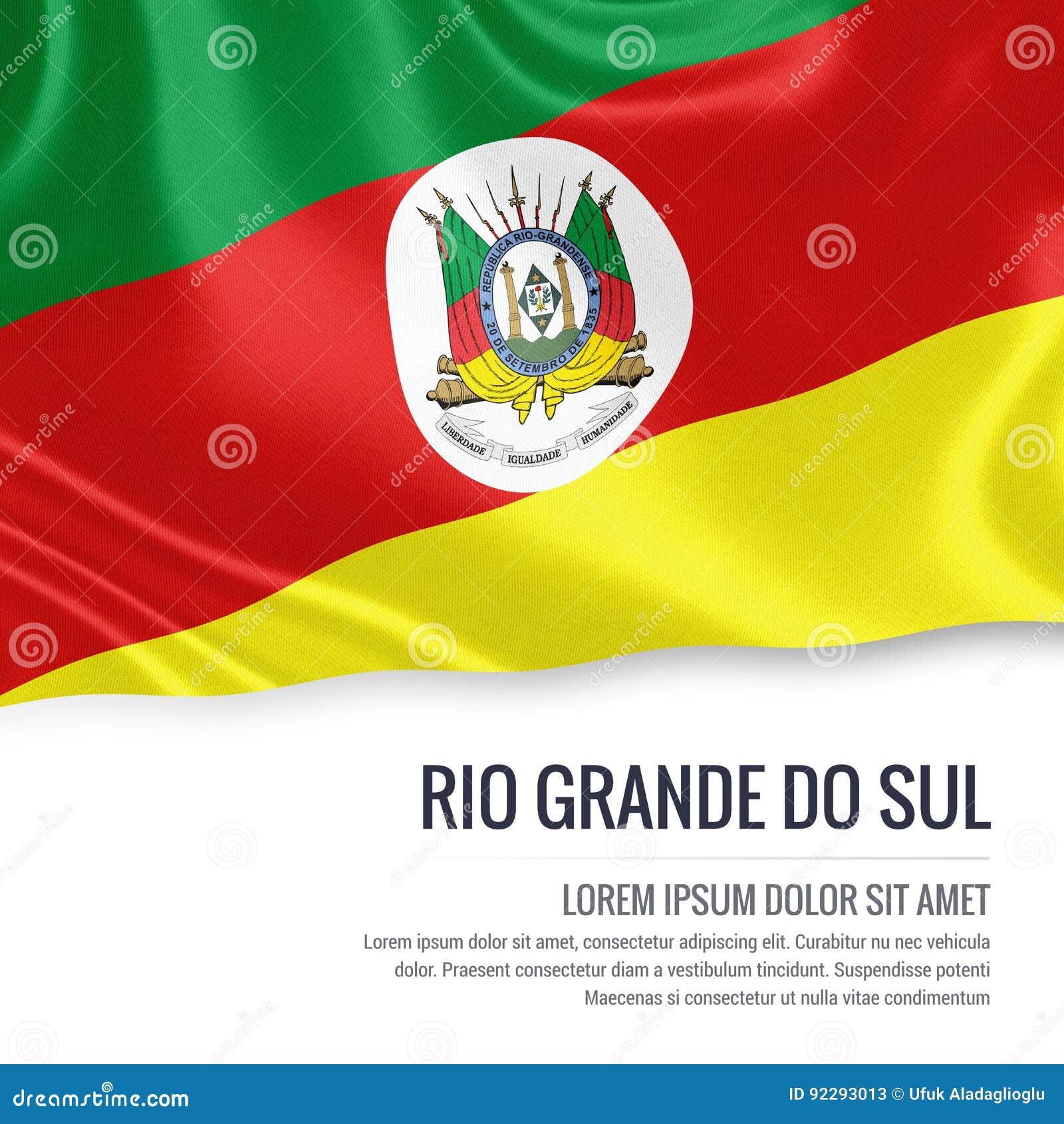 巴西状态南里奥格兰德州旗子