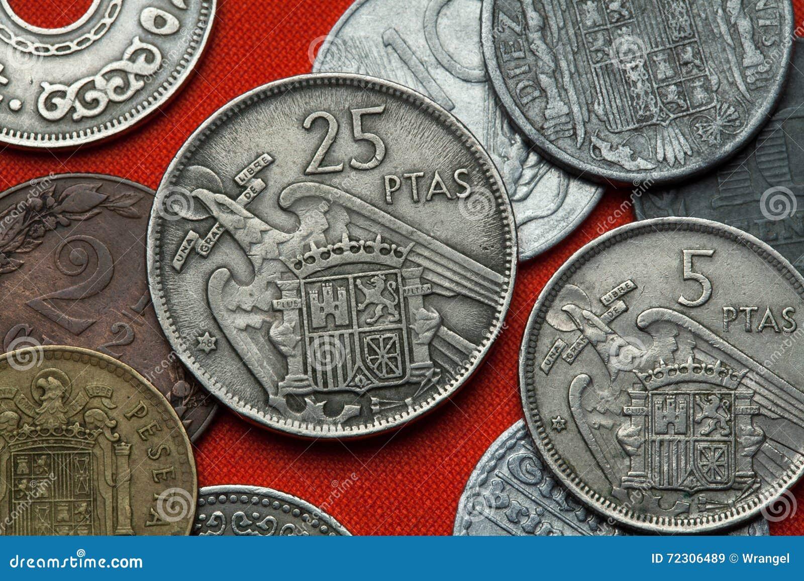 西班牙的硬币在佛朗哥下的