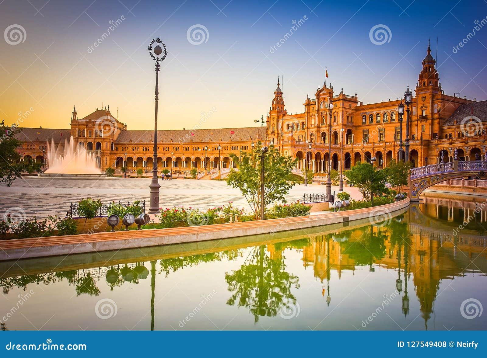西班牙,塞维利亚,西班牙的正方形