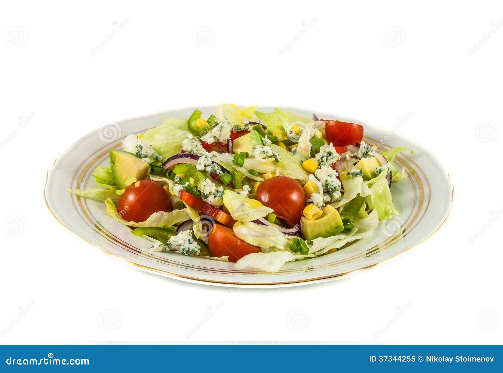 西红柿和卷心莴苣沙拉