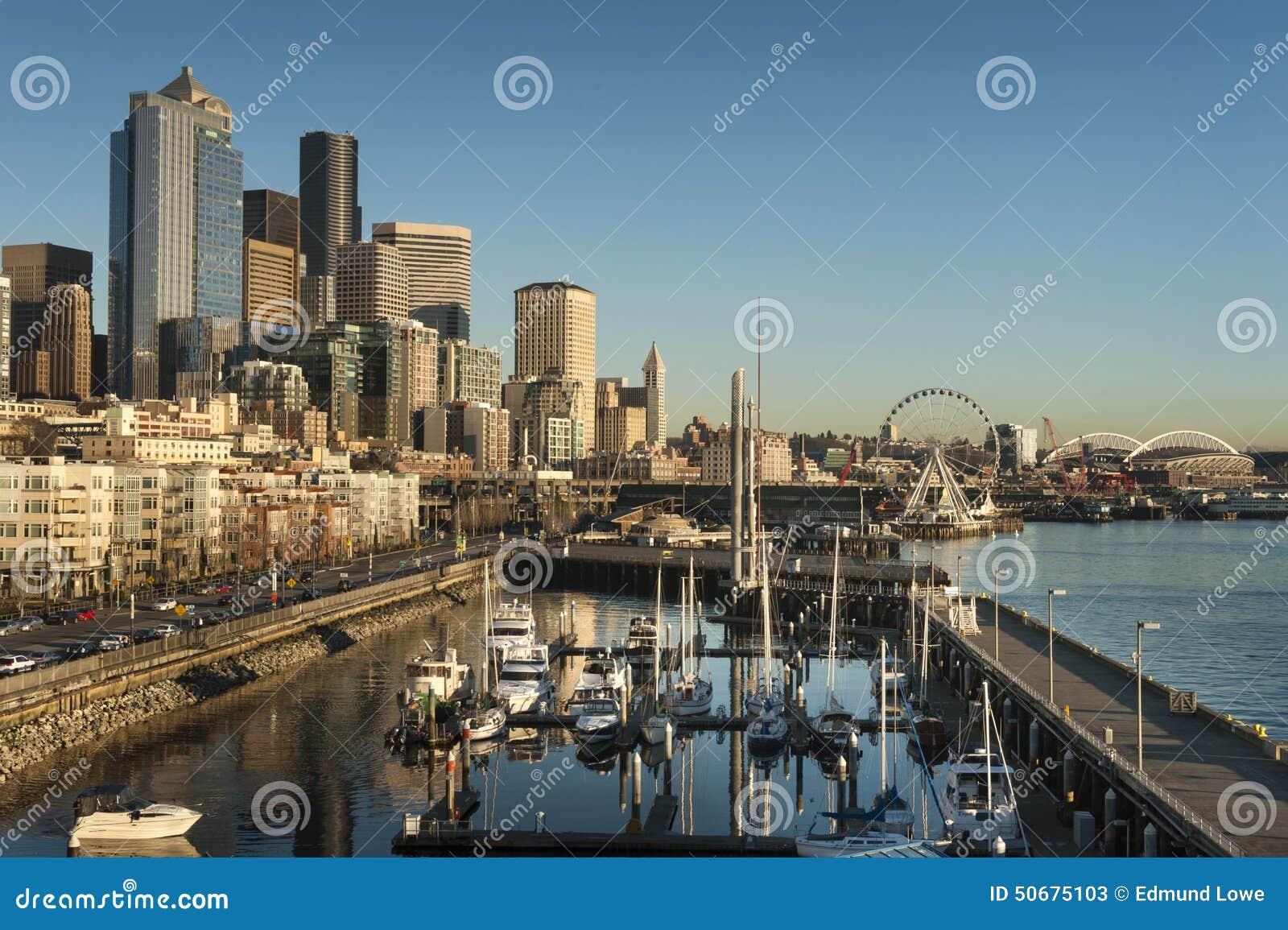 Download 西雅图日落江边 库存图片. 图片 包括有 城市, 海运, 小船, puget, 西北, 天空, 黄昏, 吸引力 - 50675103