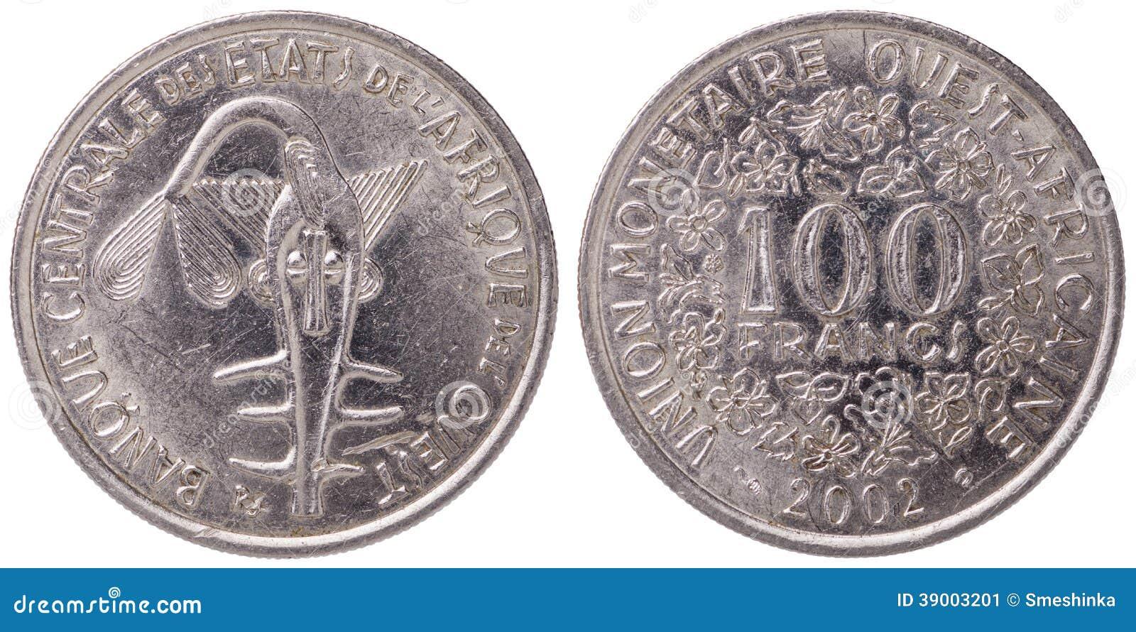 100西非CFA法郎铸造, 2002年,双方