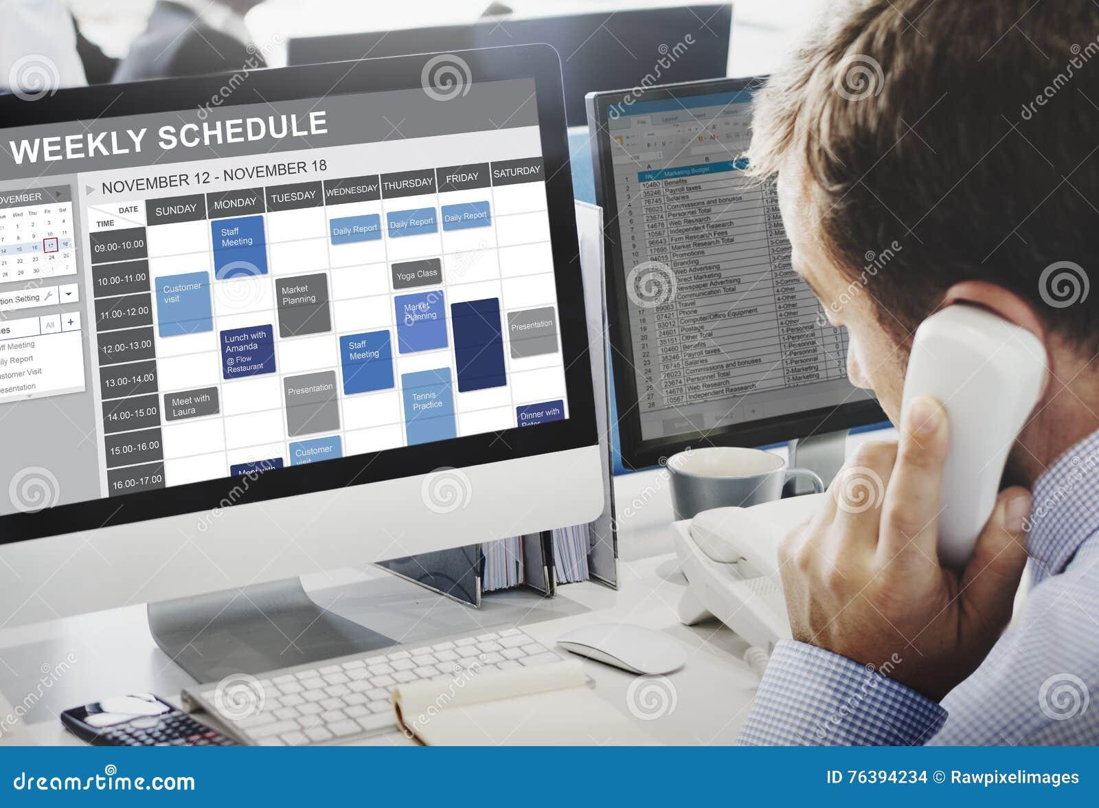 要做名单任命概念的每周日程表