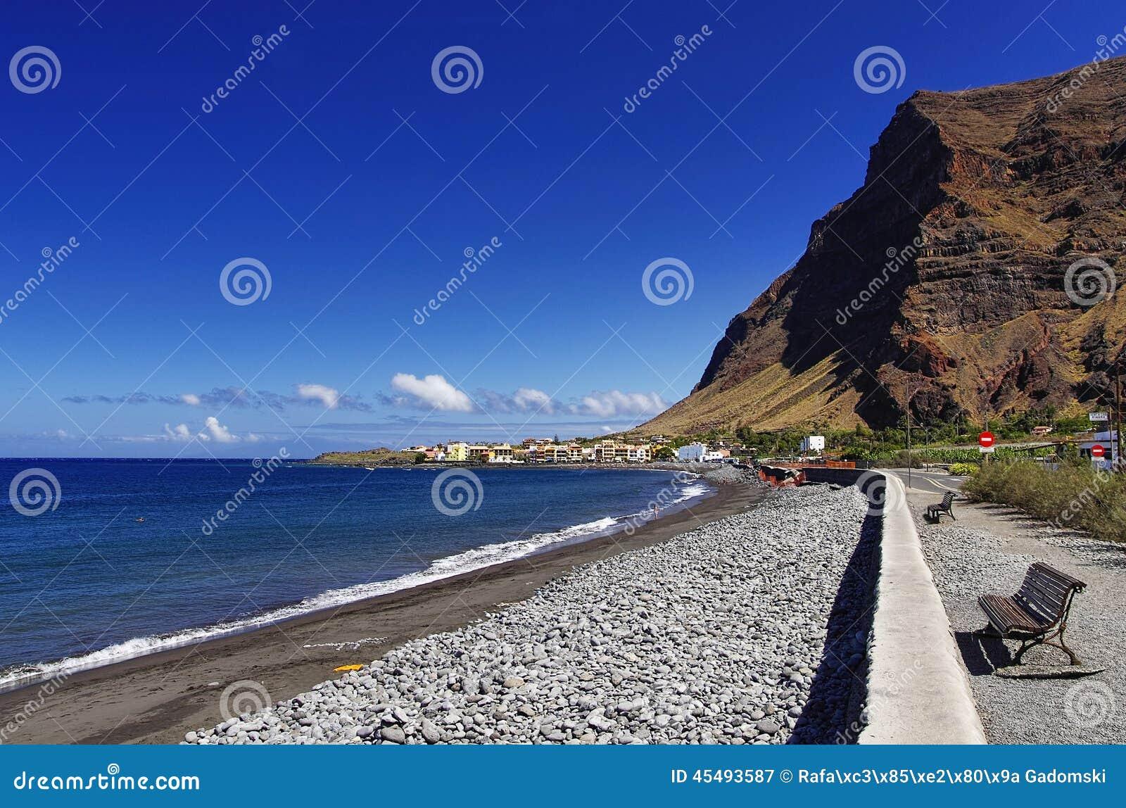 主要海滩瓦尔Gran Rey,戈梅拉岛海岛