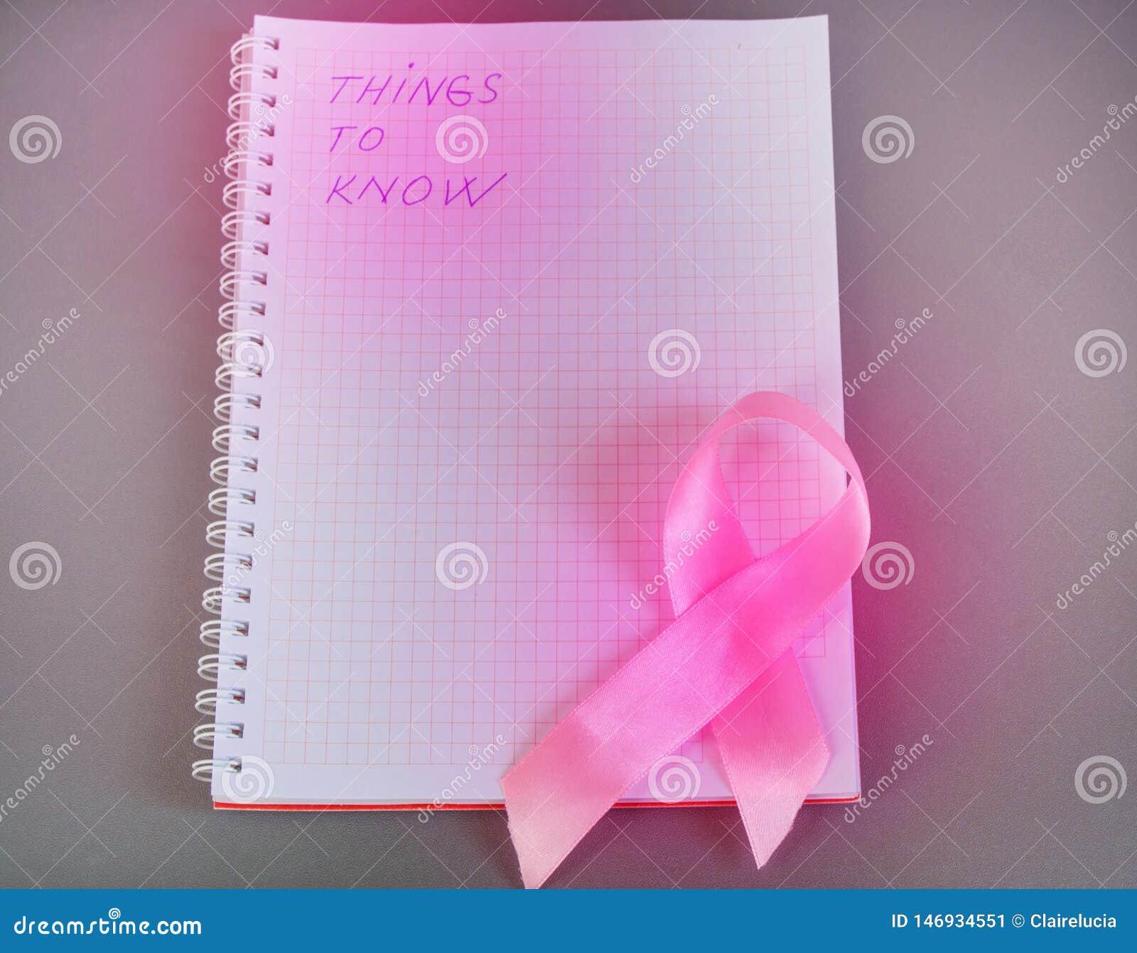 要知道的事在与桃红色丝带了悟乳腺癌的笔记薄被写