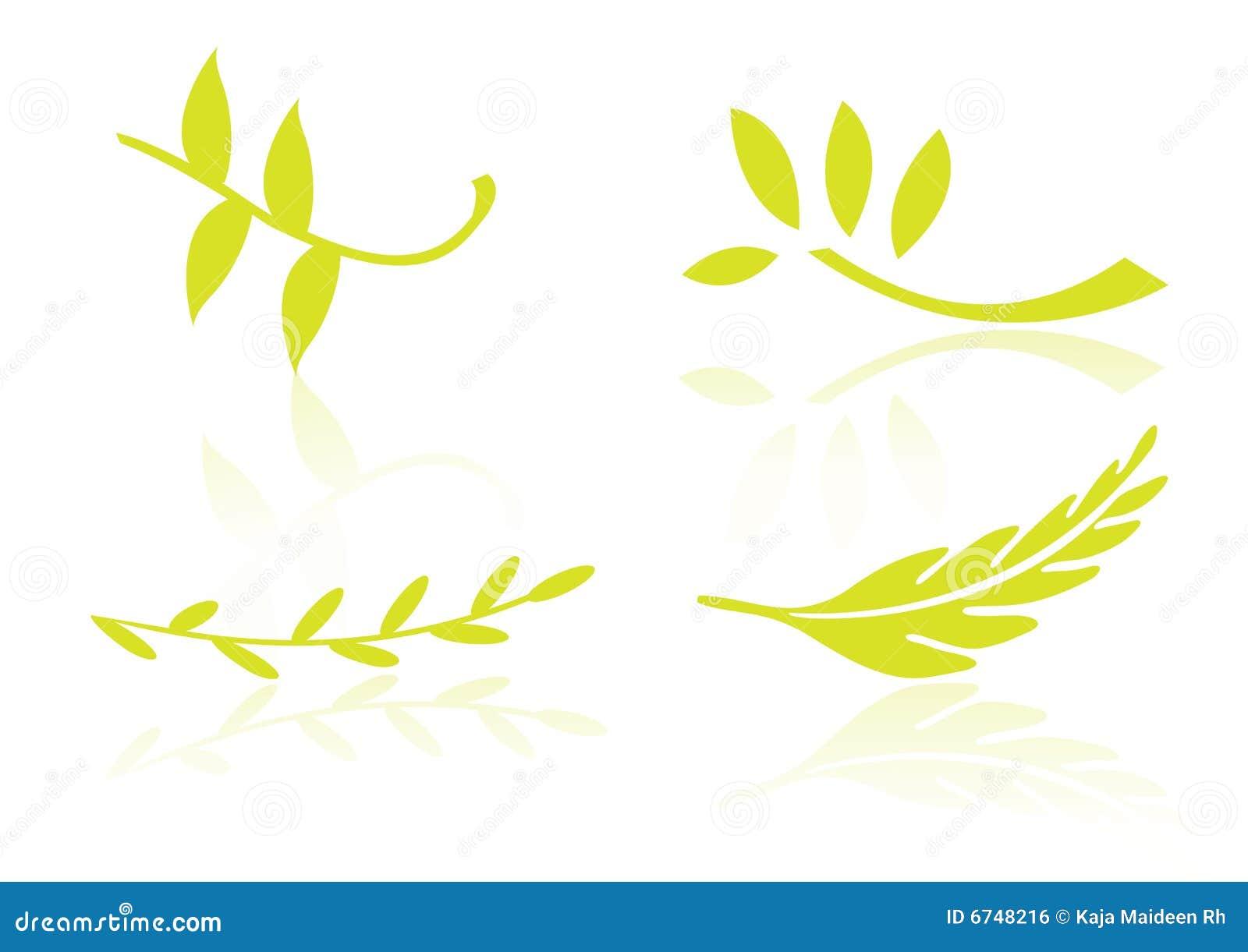 要素叶子徽标向量