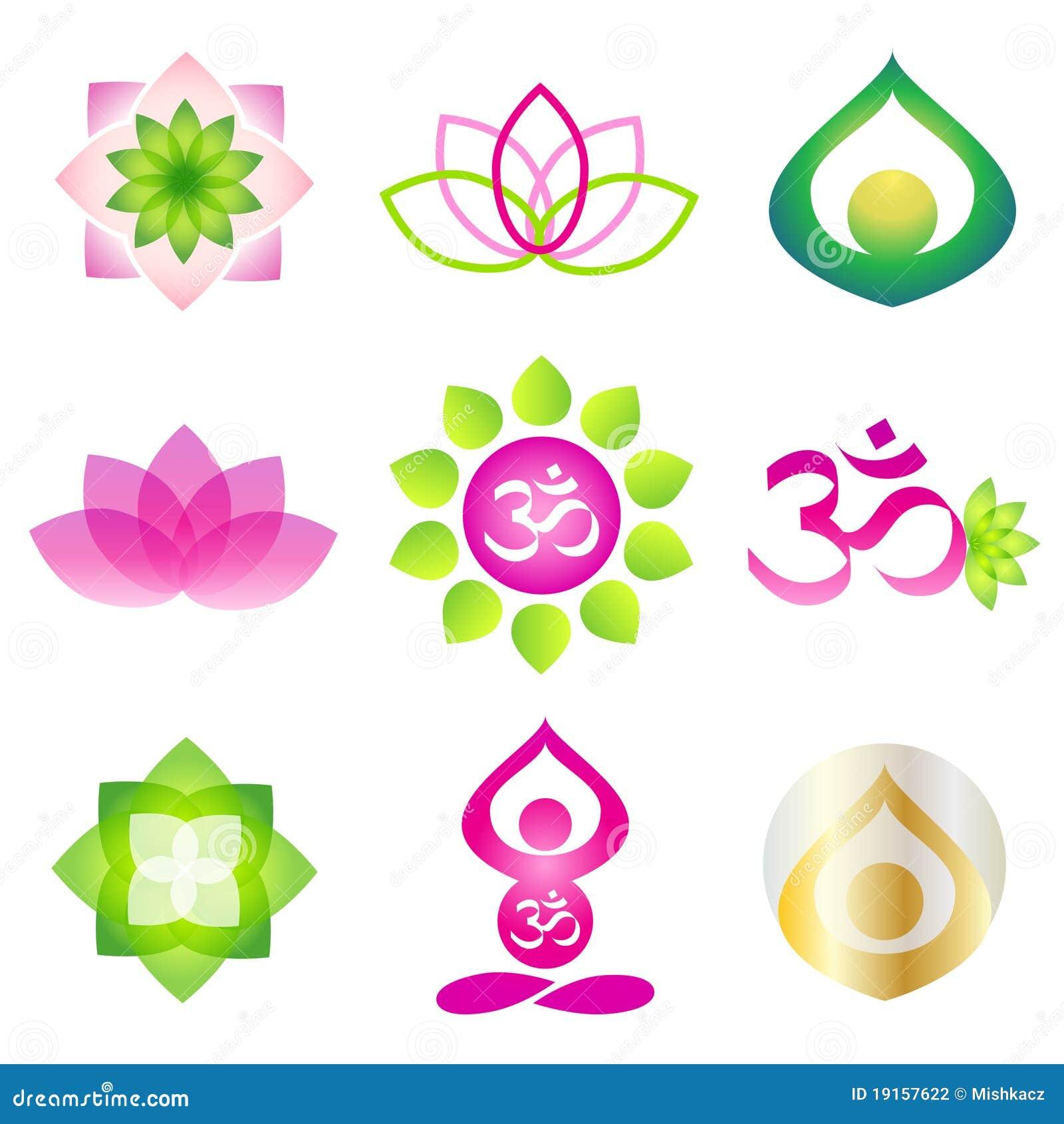 要素图标徽标瑜伽