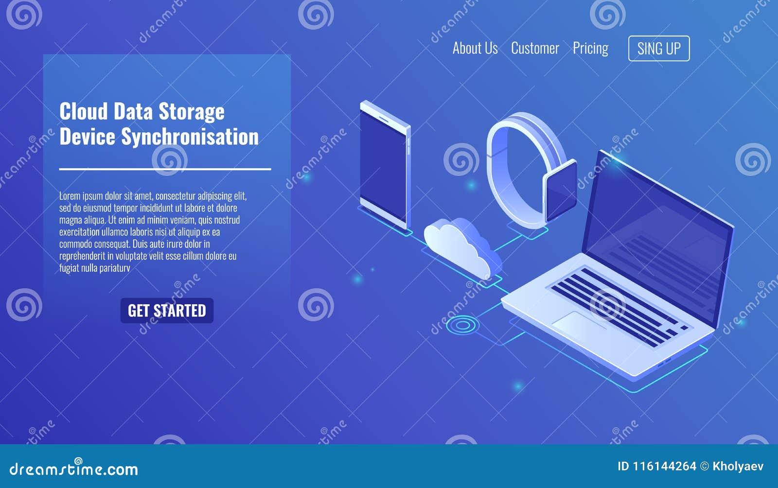 覆盖数据服务器存贮,电子设备数据同步,手机智能手机, smartwatch,膝上型计算机
