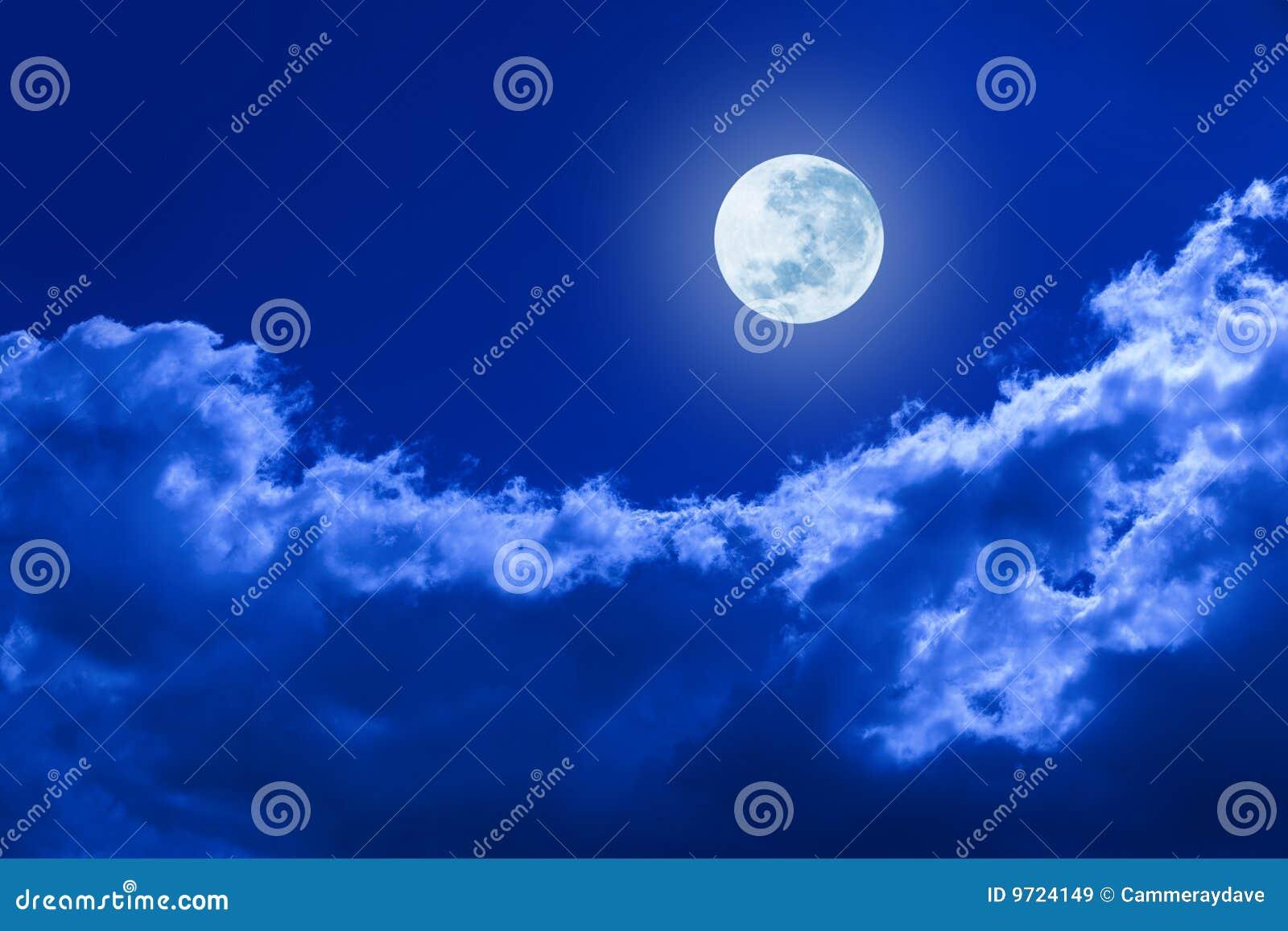 覆盖满月天空