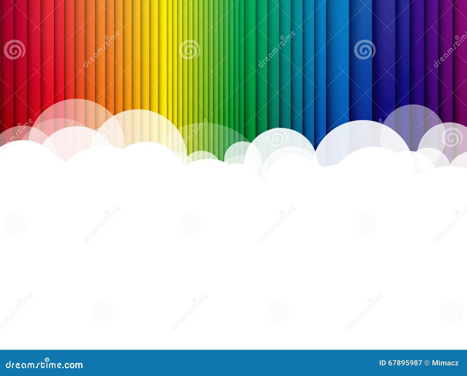 覆盖背景彩虹条纹