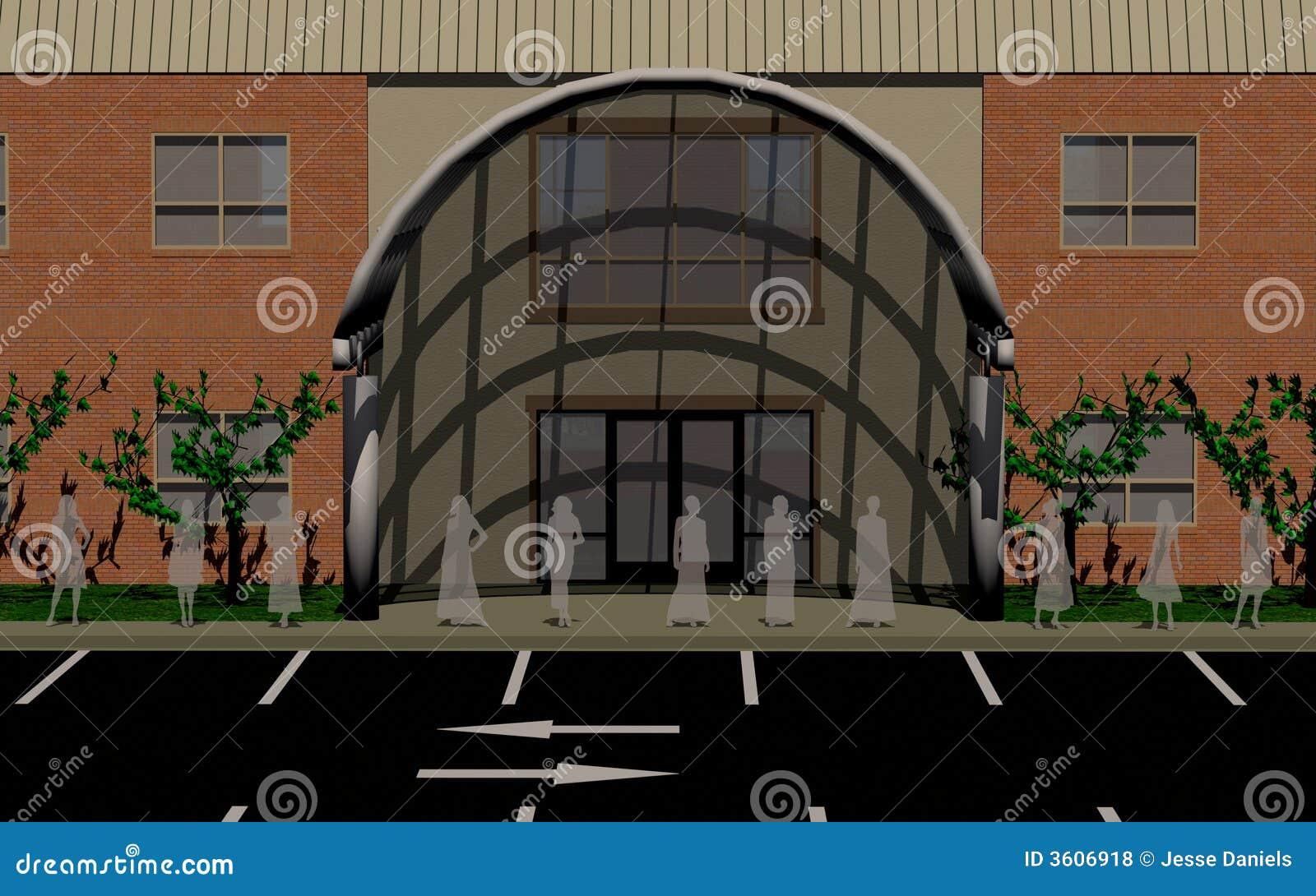 视图的接近的公寓房办公室故事二
