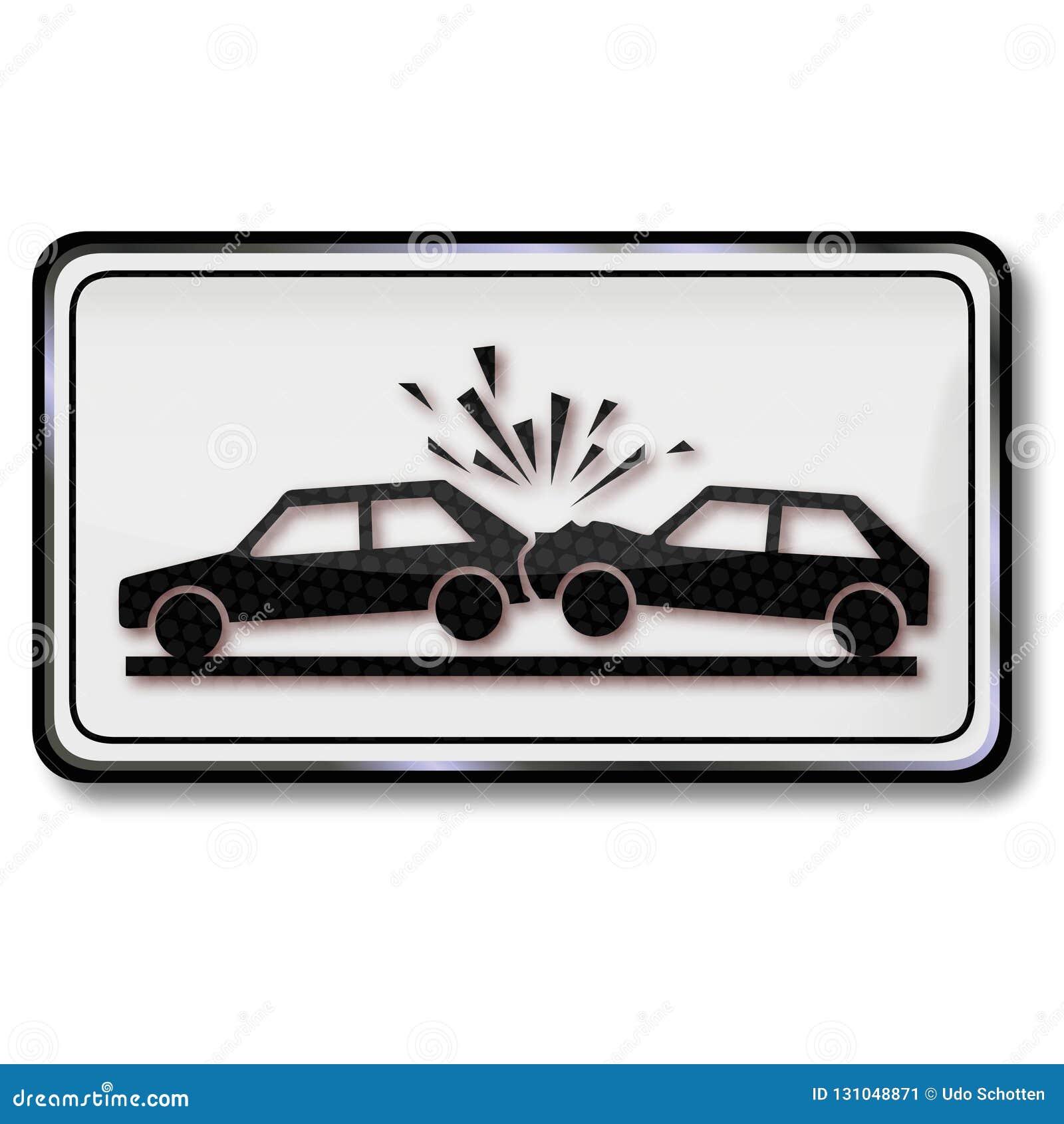 警告与汽车的碰撞