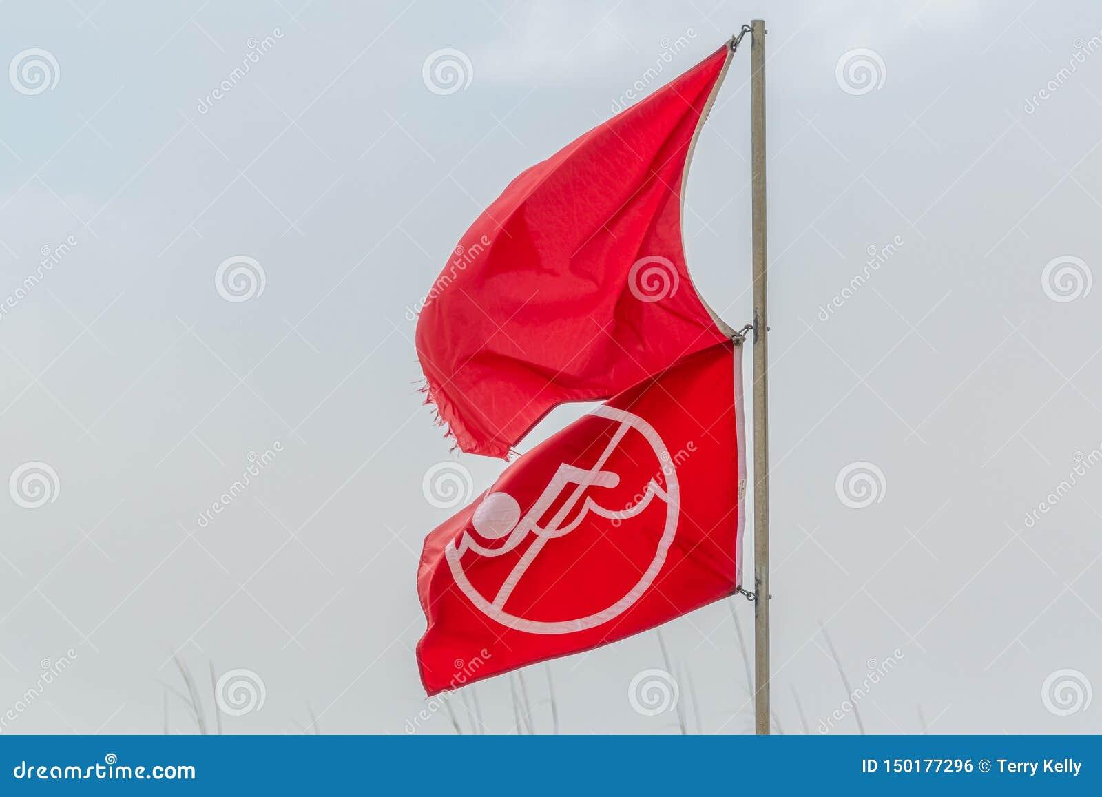 警告的旗子