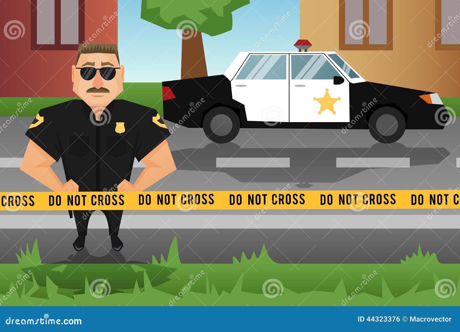 警察和巡逻车