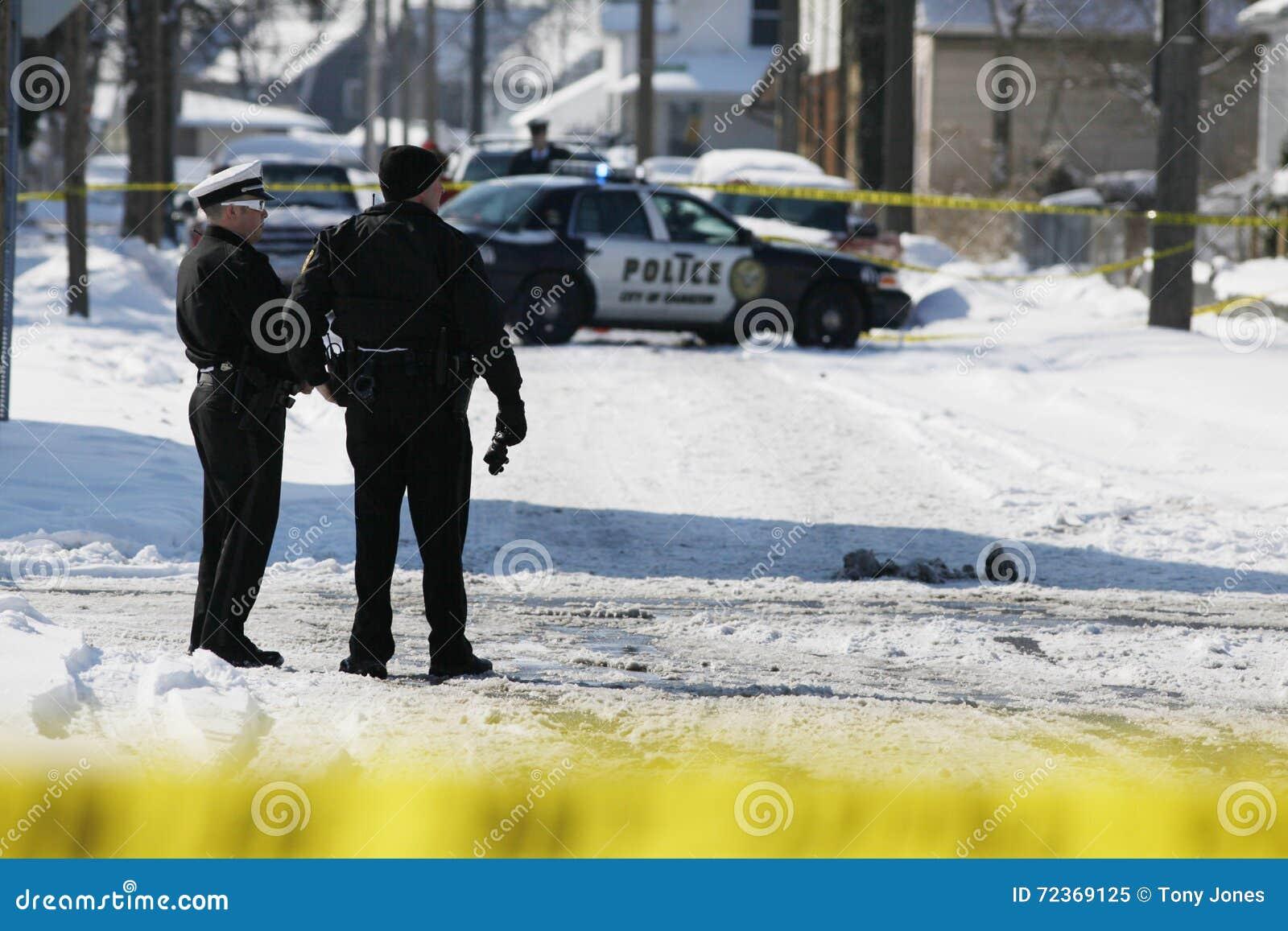 警察在现场