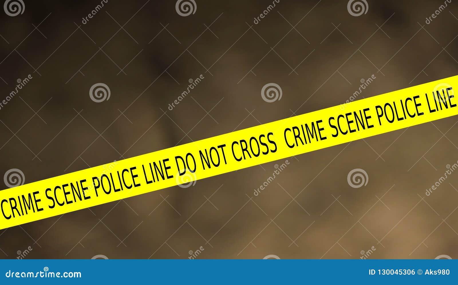 警察线犯罪现场的例证不横渡