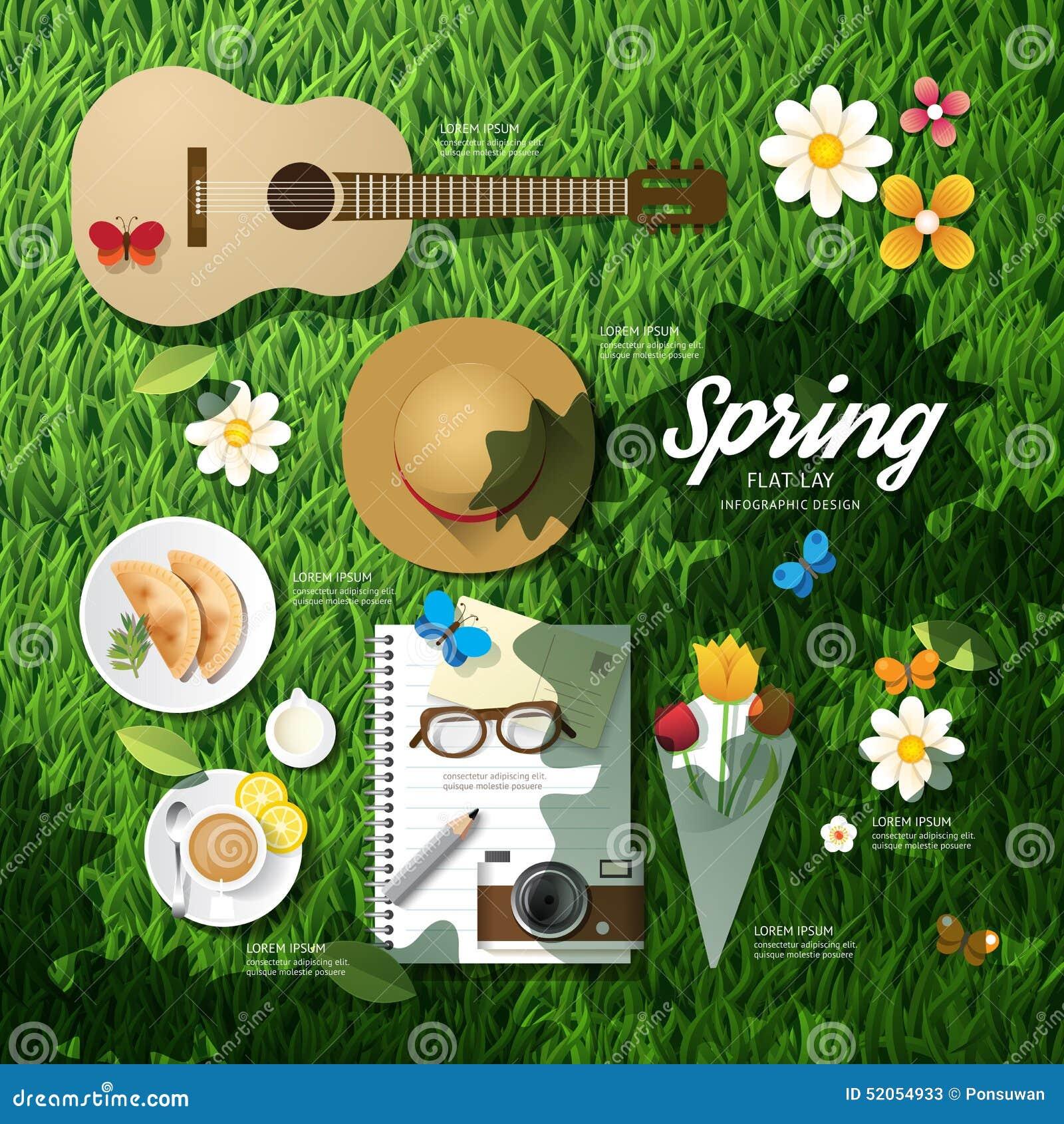 计划一次春假的Infographic旅行