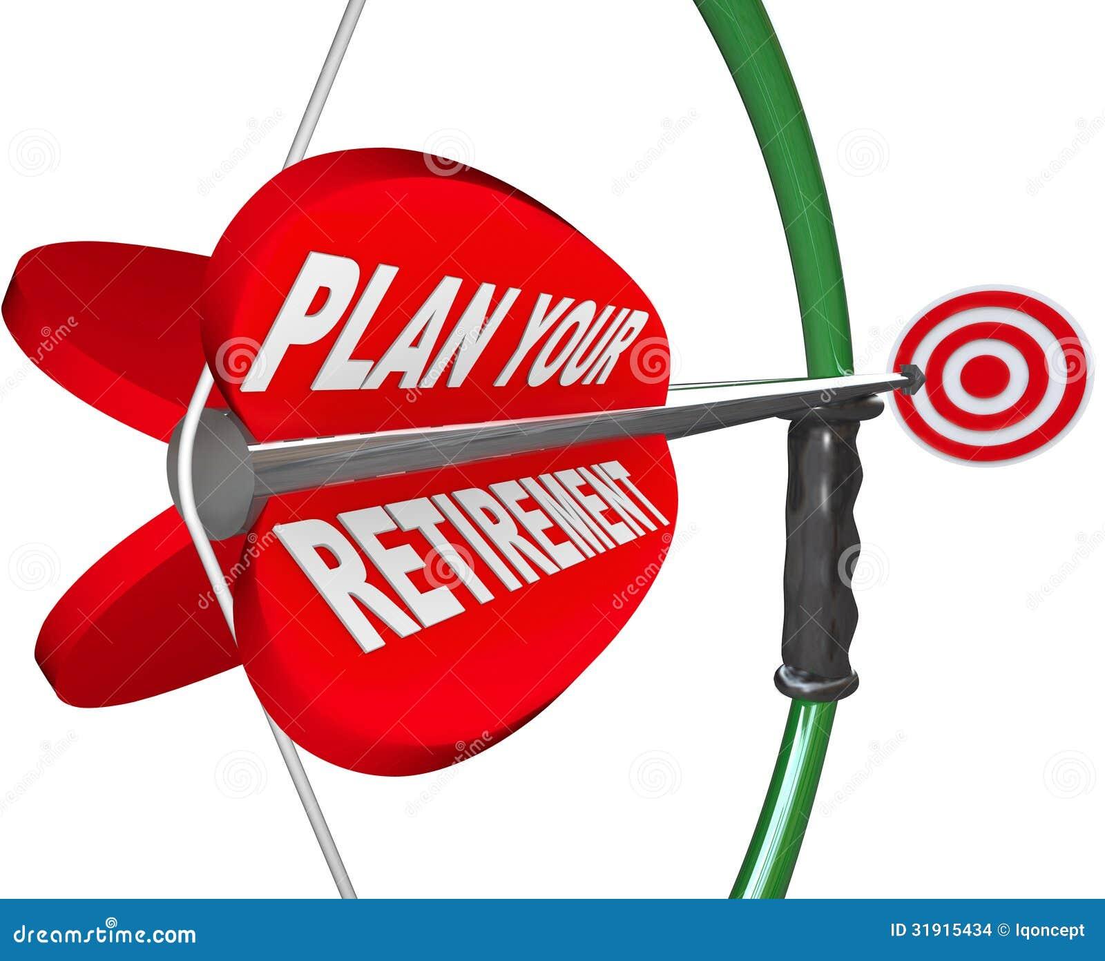 计划您的退休弓箭头目标财政储款