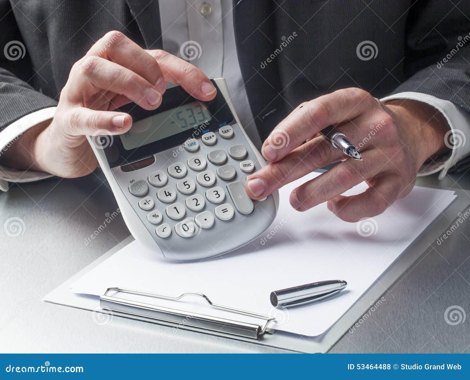 计数与在计算器的焦点的财务经理