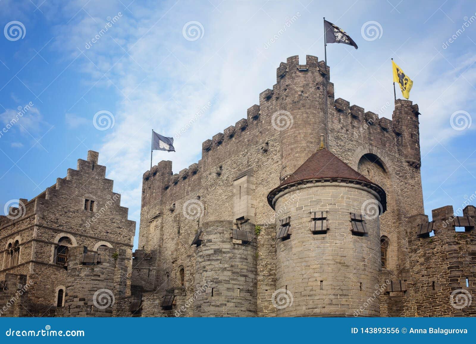 计数的城堡在跟特在比利时
