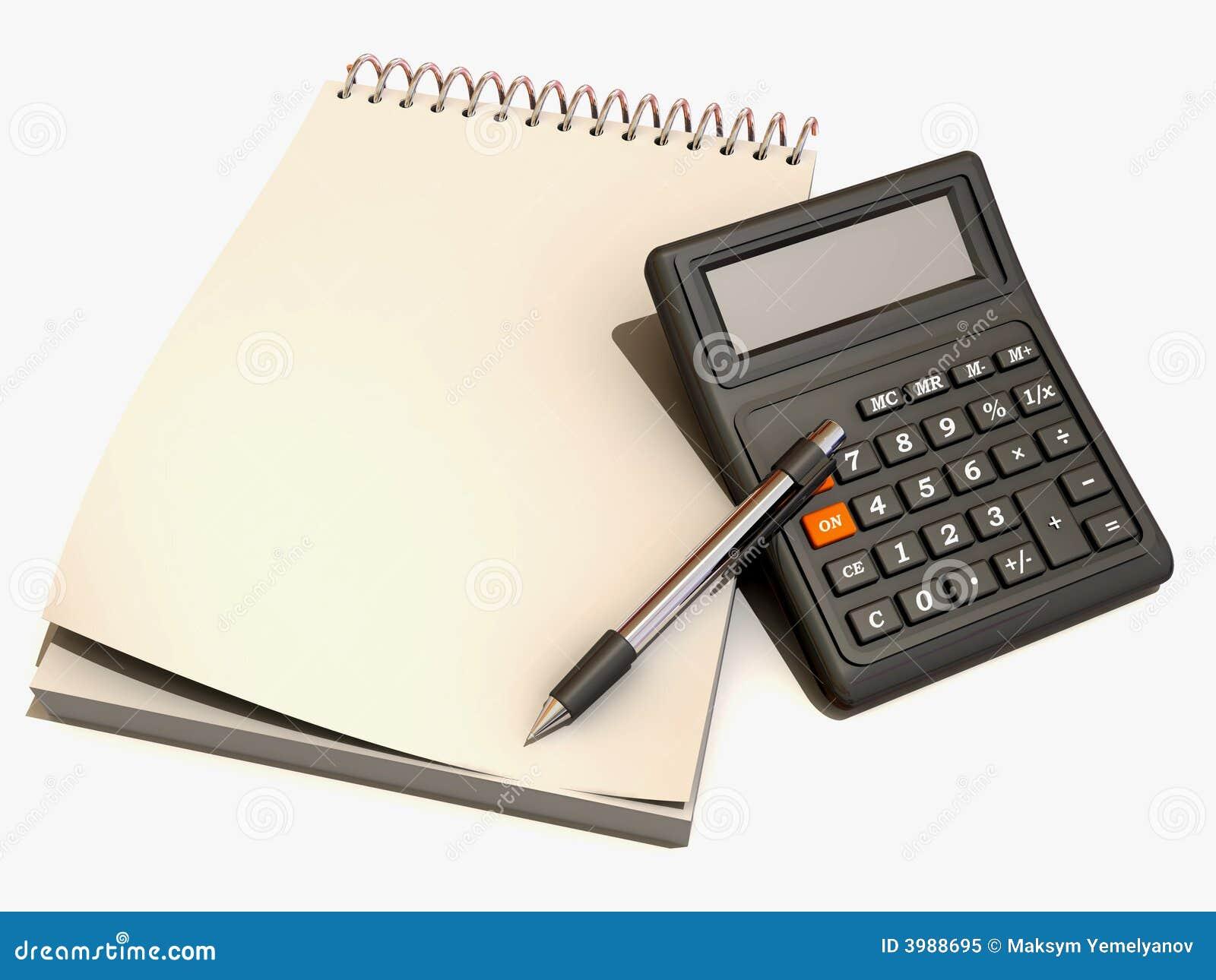 计算器笔记本笔