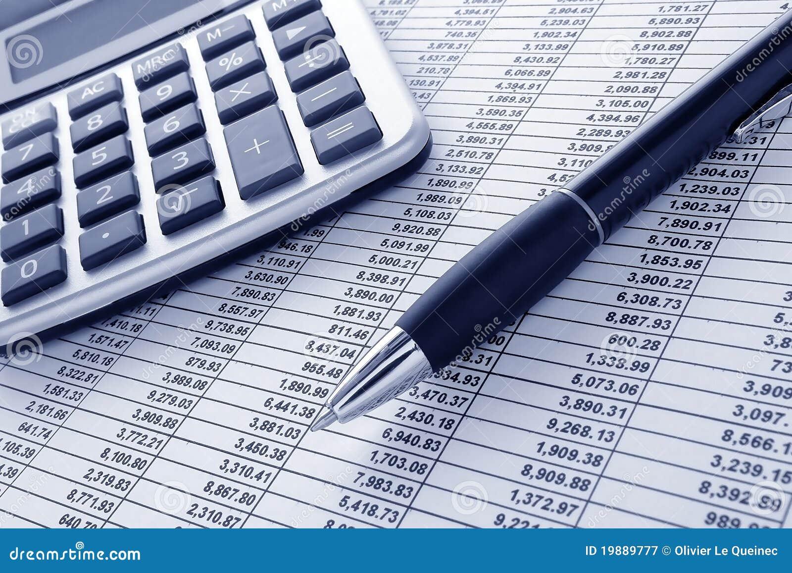 计算器财务笔电子表格
