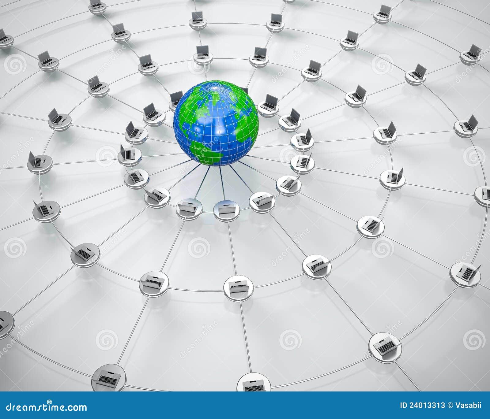 库存照片 计算机全球网络