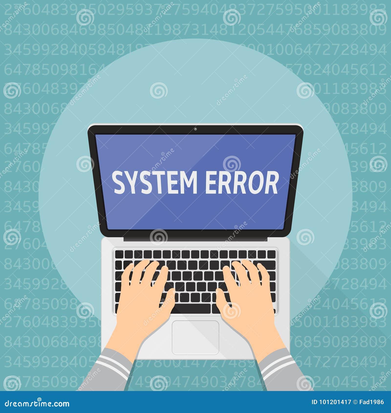 计算机系统错误的概念 递关键董事会膝上型计算机