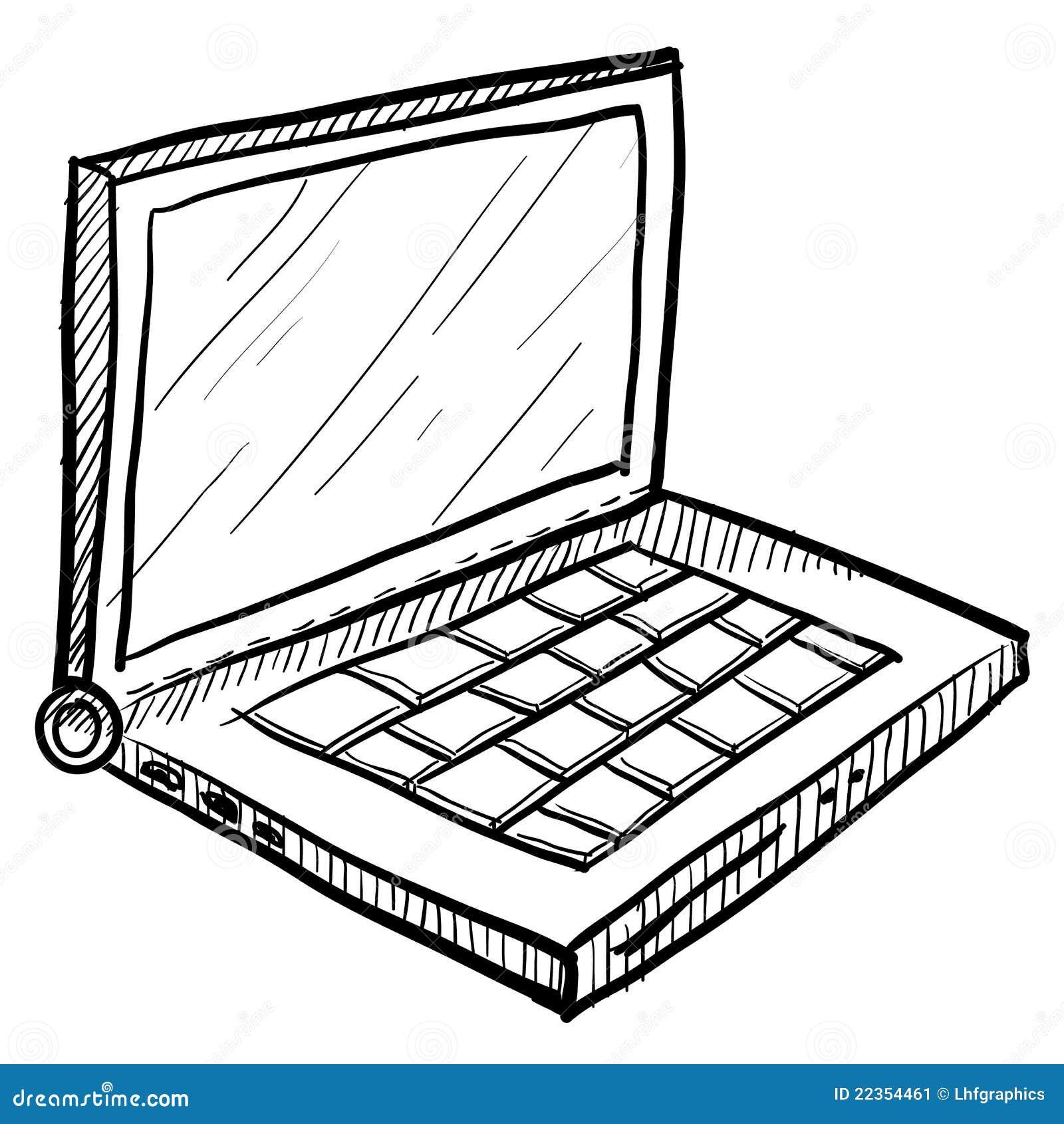 计算机膝上型计算机草图