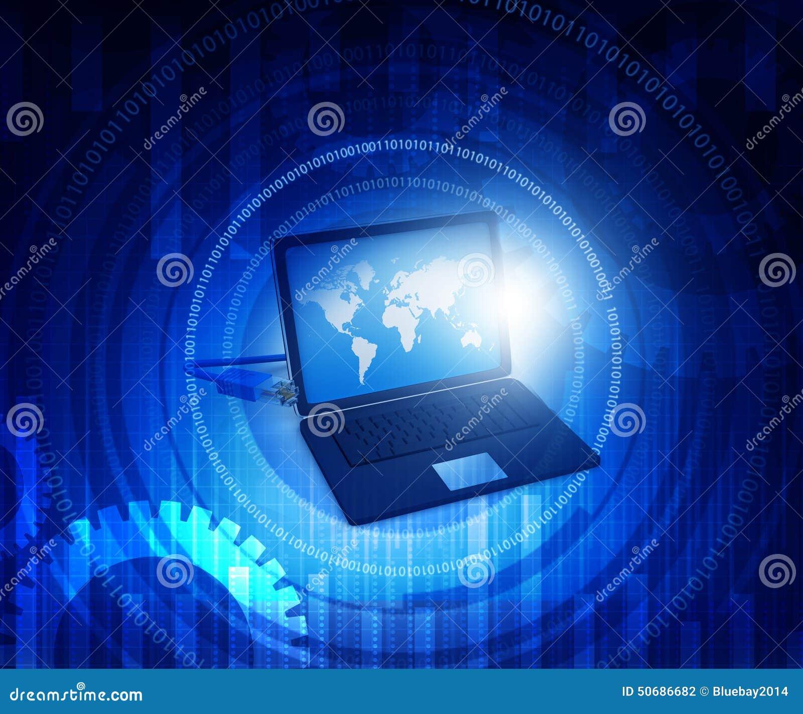 Download 计算机膝上型计算机 库存例证. 插画 包括有 技术, 未来派, 网络, 虚构, 数字, 空间, 商业, 膝上型计算机 - 50686682