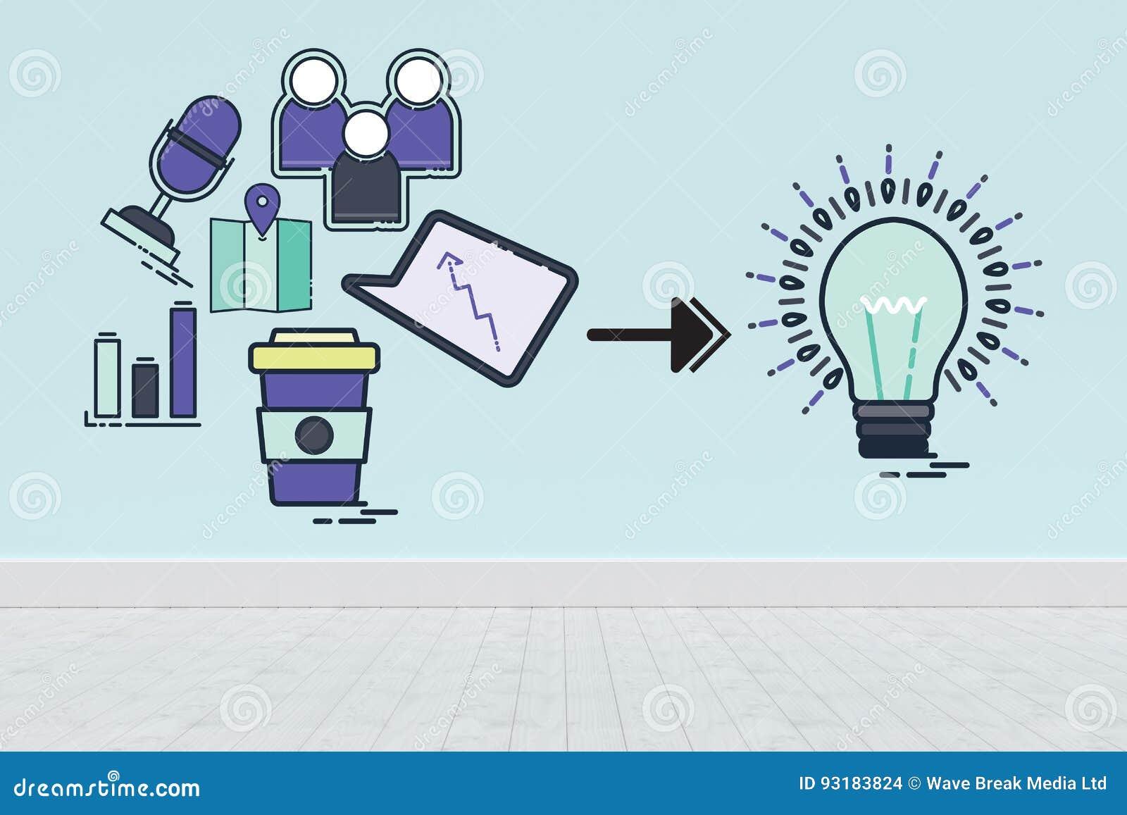 计算机象的综合图象的综合图象指向往电灯泡的