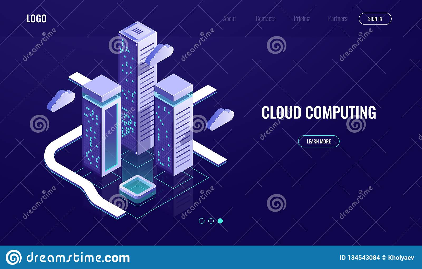 计算的云彩,云彩数据存储等量概念,现代数字都市城市,数据路,产业4 0黑暗的氖