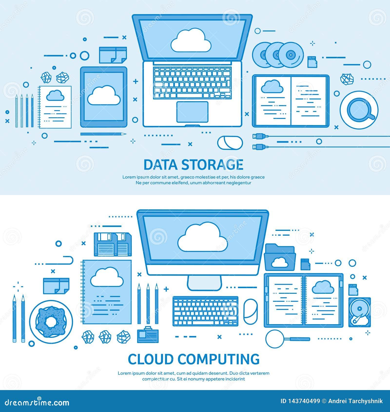 计算的云彩,媒介数据服务器 网存贮 数字技术 背景蓝色电缆连接深互联网插件 平的蓝色概述背景