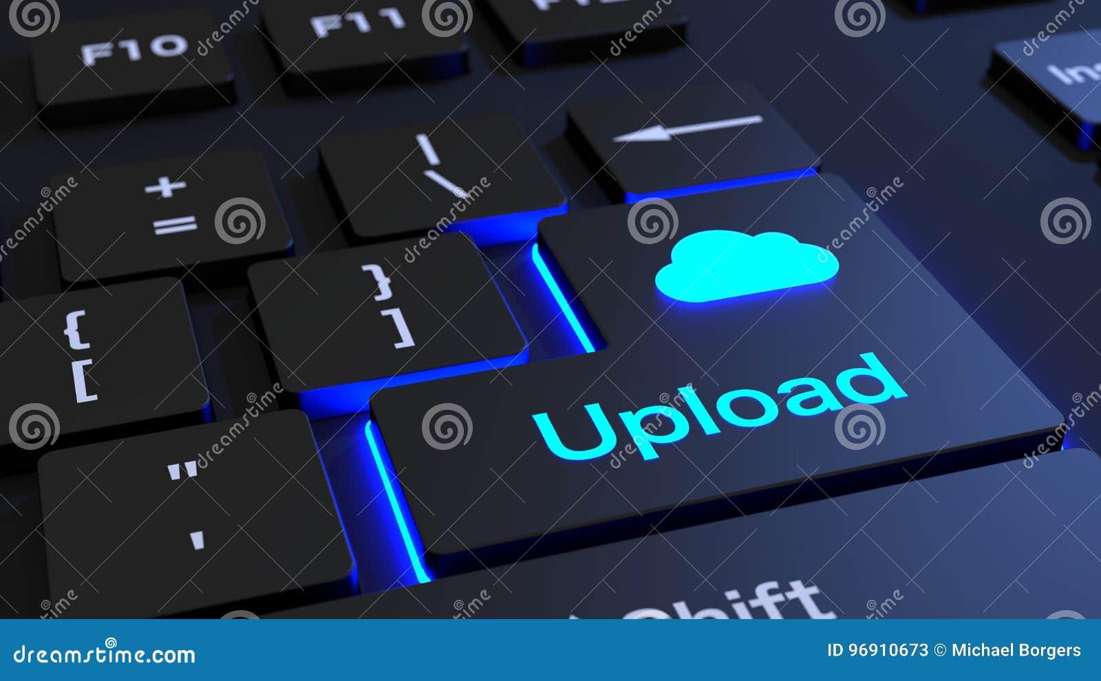 计算黑键盘加载按钮的云彩