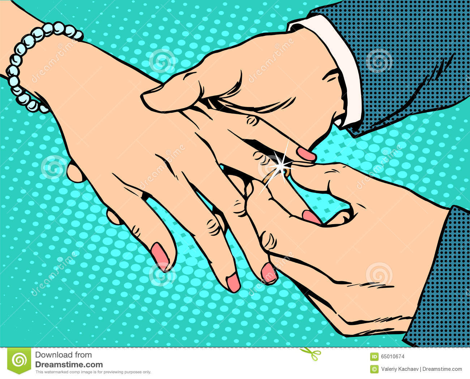 订婚婚礼新娘新郎金戒指