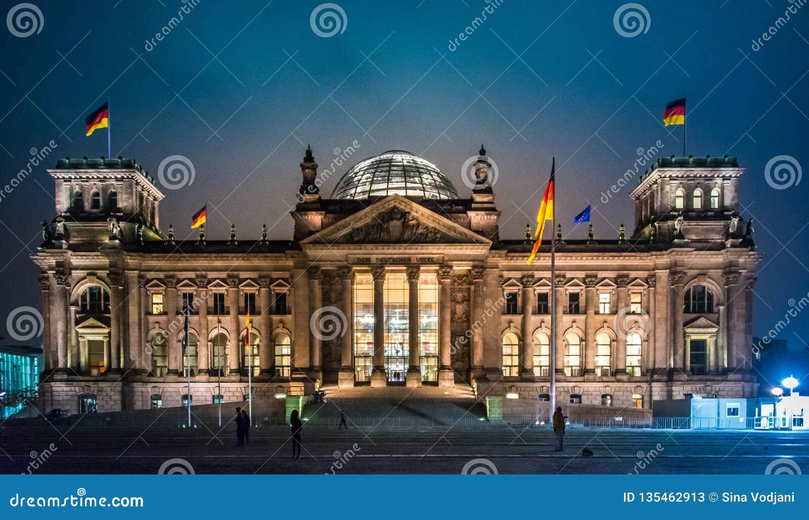 议会和死命Reichstag柏林Reichskuppel